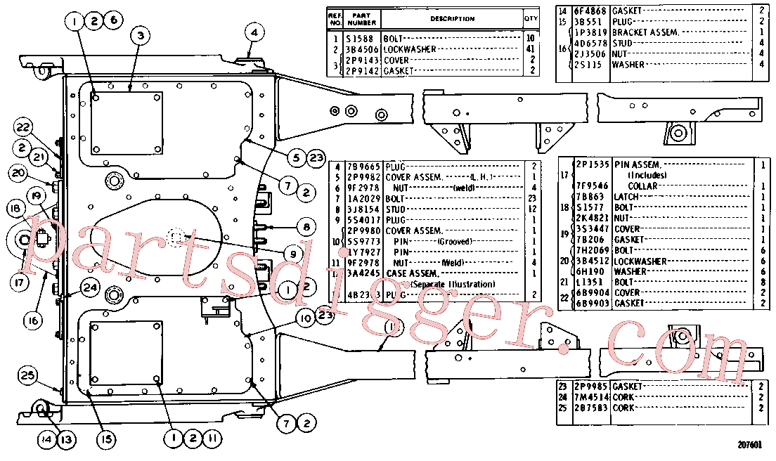CAT 3B-0645 for 992C Wheel Loader(WTL) chassis and undercarriage 3P-4530 Assembly