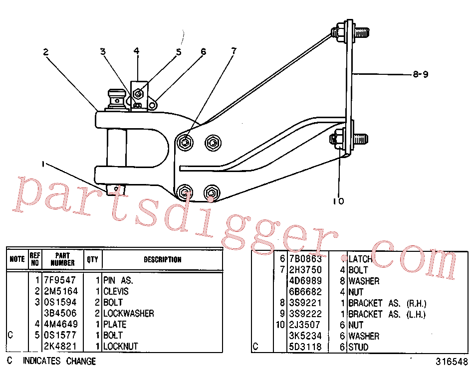 CAT 2K-4821 for 3408 Industrial Engine(IENG) chassis and undercarriage 3S-9179 Assembly