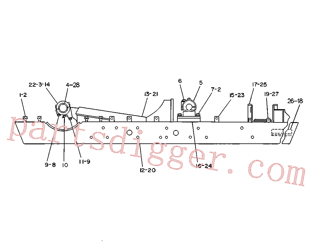 CAT 2B-7559 for 5S Bulldozer(TTT) chassis and undercarriage 4K-5210 Assembly