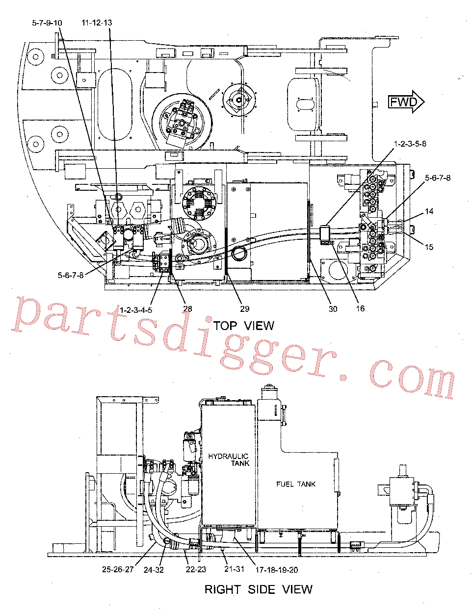 CAT 115-8678 for 325C Excavator(EXC) hydraulic system 231-8431 Assembly