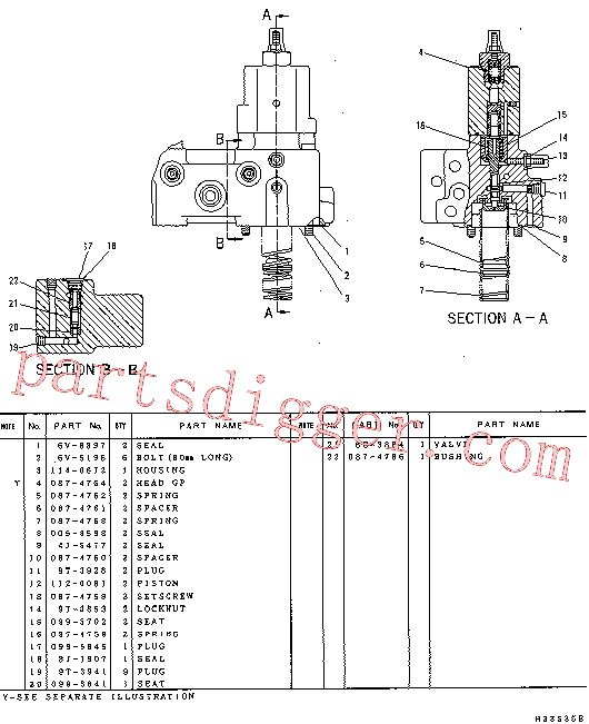 CAT 087-4763 for 322 L Excavator(EXC) hydraulic system 114-0670 Assembly