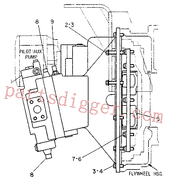 CAT 1M-1993 for 3304 Industrial Engine(IENG) hydraulic system 6W-6598 Assembly