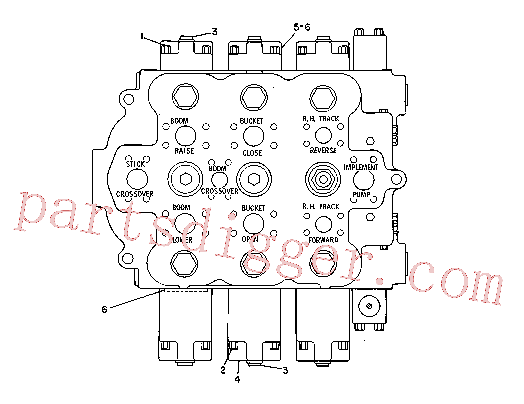CAT 8J-0323 for 215D Excavator(EXC) hydraulic system 3G-3940 Assembly