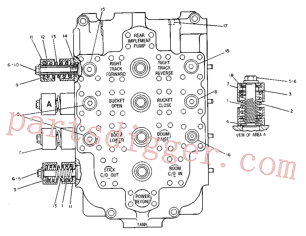 CAT 8J-0323 for 375-A L Excavator(EXC) hydraulic system 9T-6722 Assembly