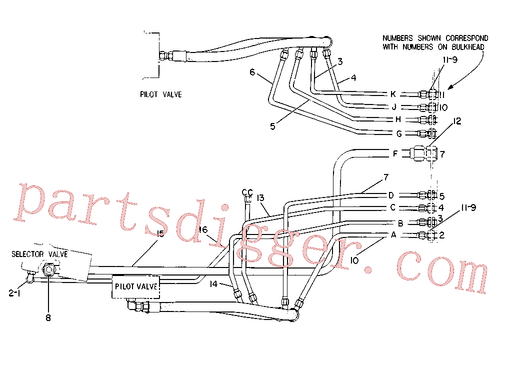 CAT 383-3702 for 231D Excavator(EXC) hydraulic system 8V-8315 Assembly
