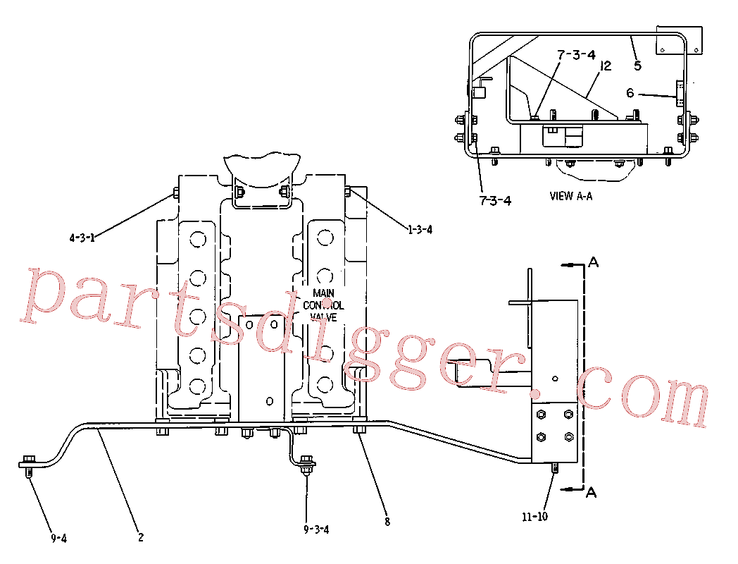 CAT 1D-4572 for 3516C Locomotive Engine(IENG) hydraulic system 5C-0385 Assembly