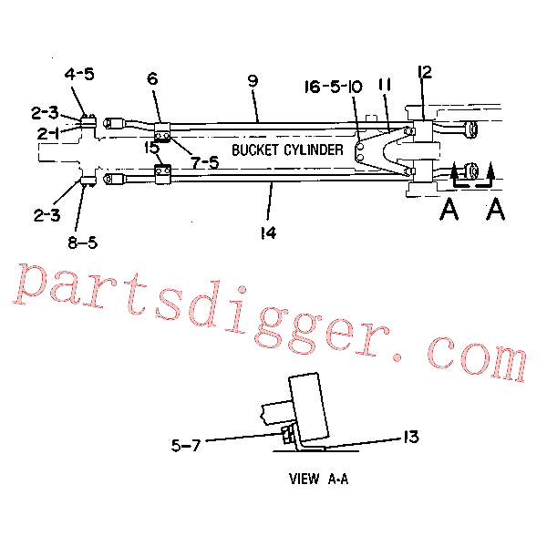 CAT 7X-0312 for 215 Excavator(EXC) hydraulic system 5C-5788 Assembly