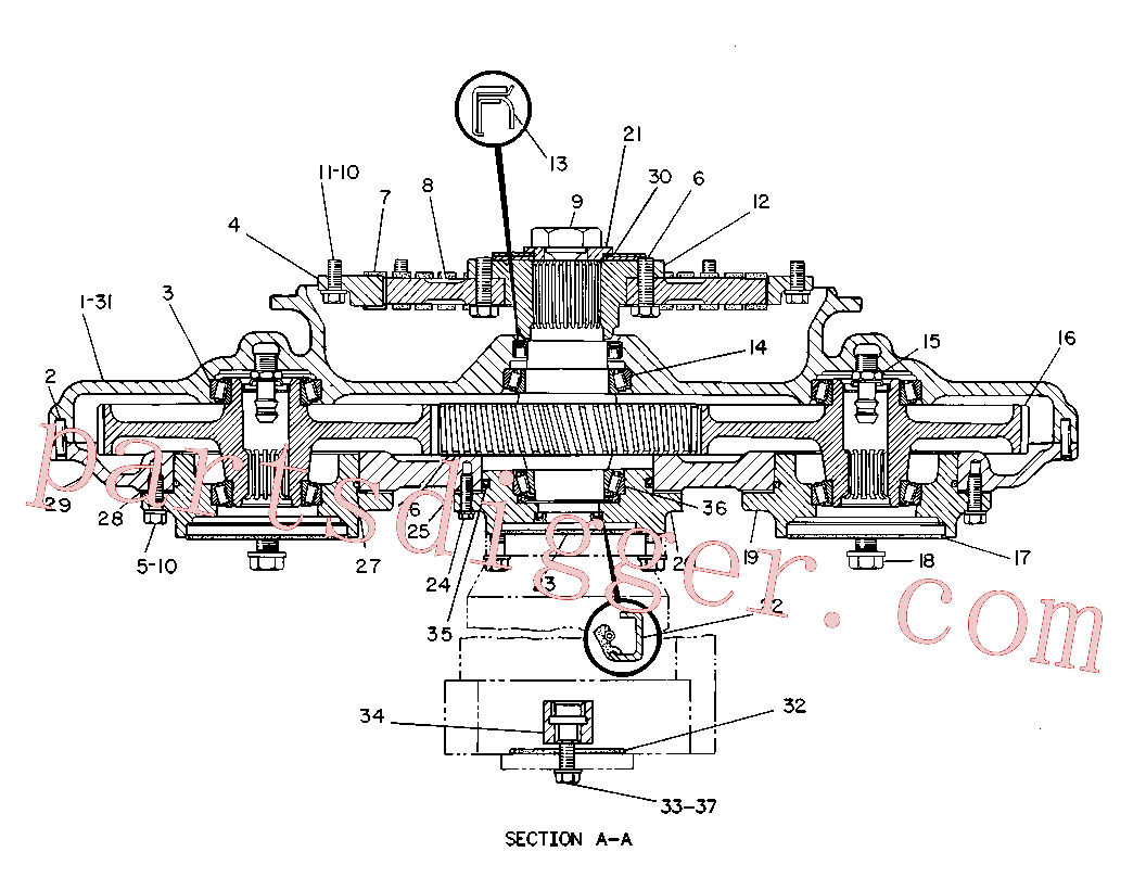 CAT 9X-4593 for 235C Excavator(EXC) power train 8R-7811 Assembly