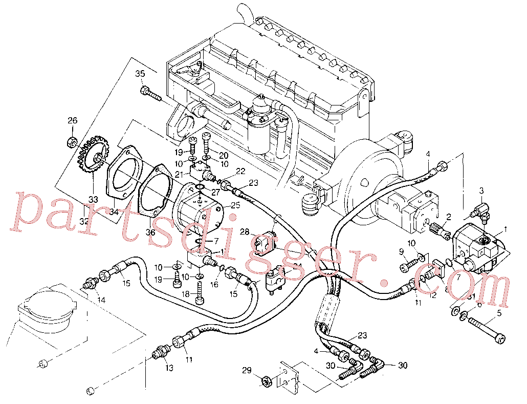 CAT 7C-1289 for 224B Excavator(EXC) hydraulic system 8U-3030 Assembly