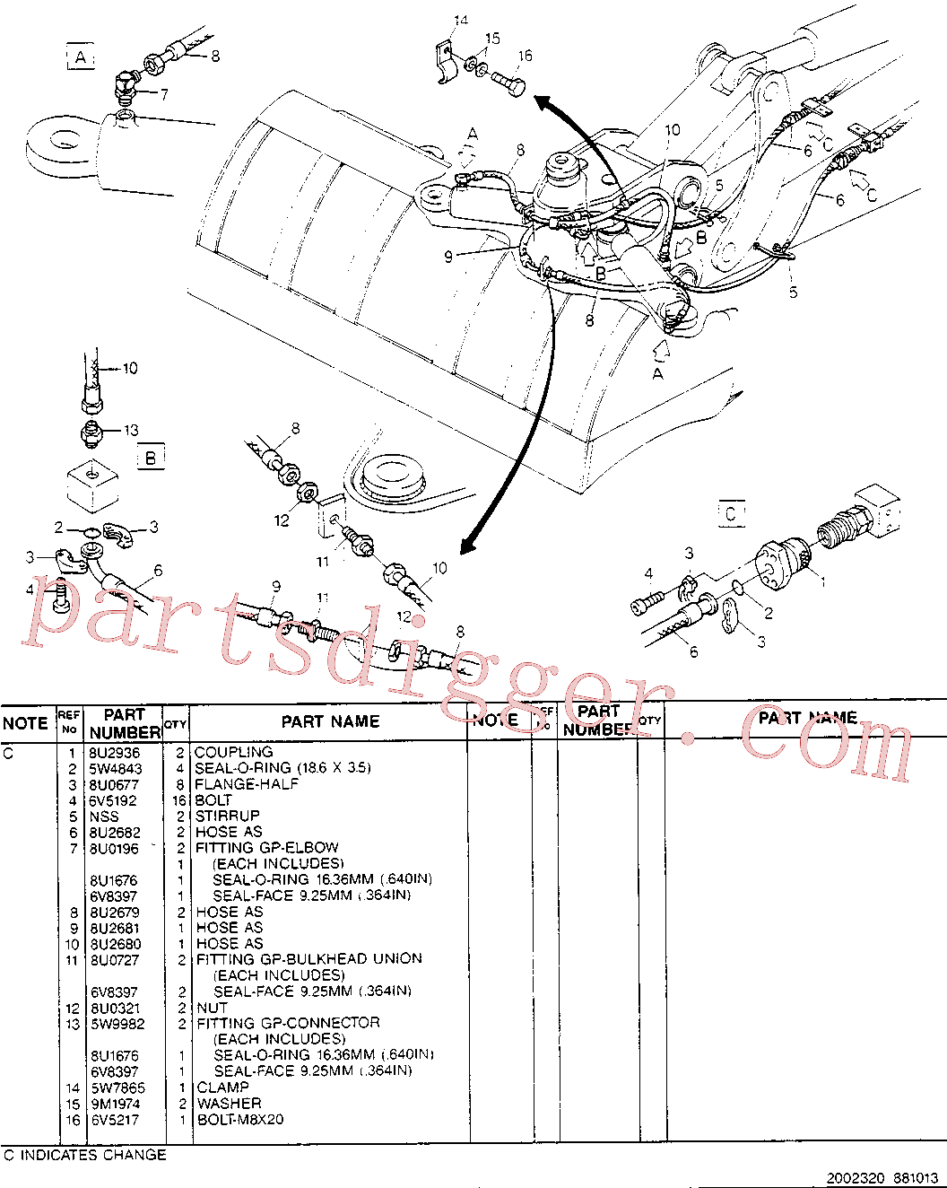 CAT 8U-0727 for 224B Excavator(EXC) hydraulic system 8U-2674 Assembly