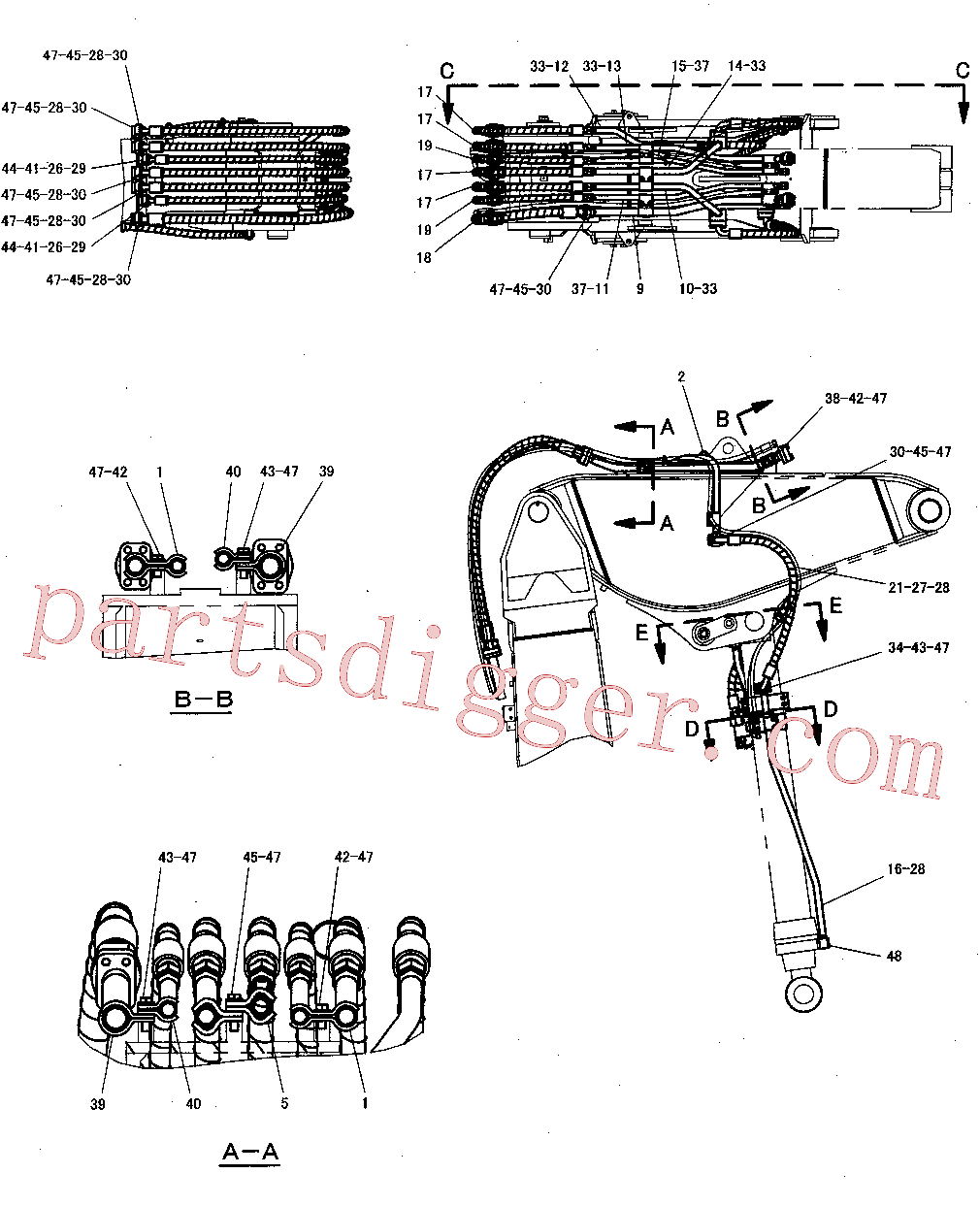 CAT 263-4710 for 345C Excavator(EXC) hydraulic system 300-8170 Assembly