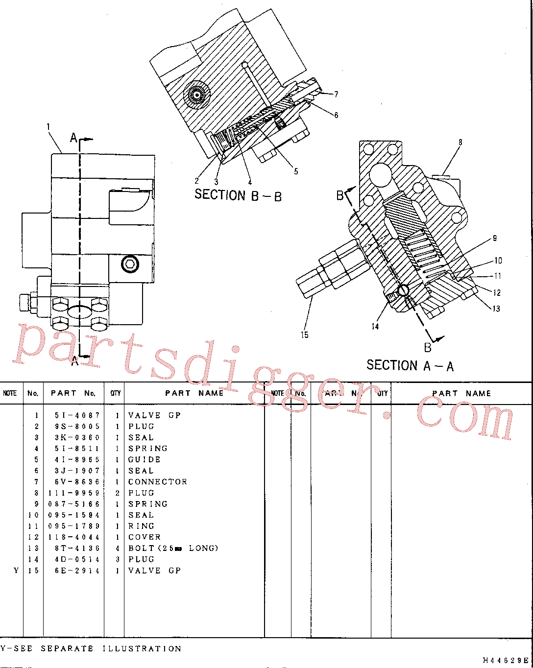 CAT 087-5166 for 330-A  L Excavator(EXC) hydraulic system 5I-4086 Assembly