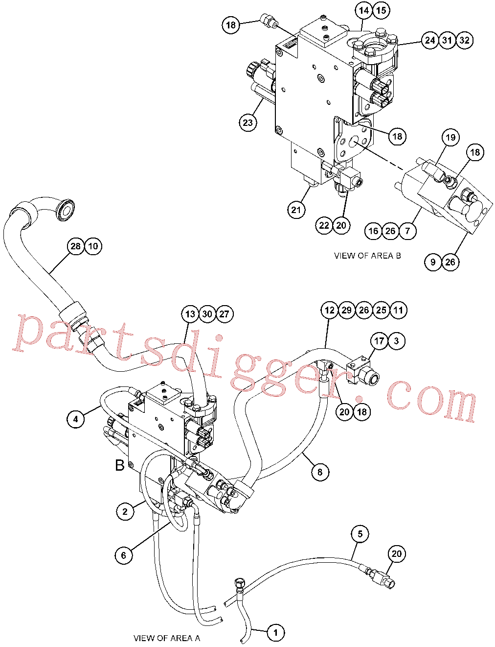 CAT 9X-4626 for M317D2 Wheeled Excavator(WHEX) hydraulic system 418-8739 Assembly