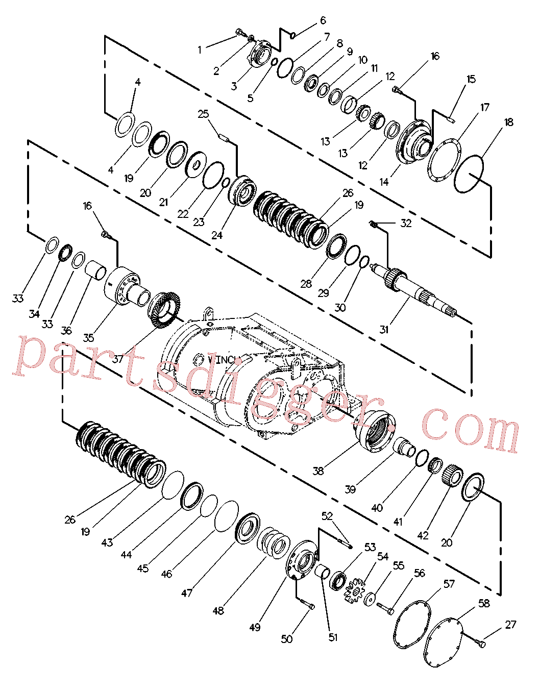 CAT 5H-6734 for D5C Track Type Tractor(TTT) implements 3T-4959 Assembly