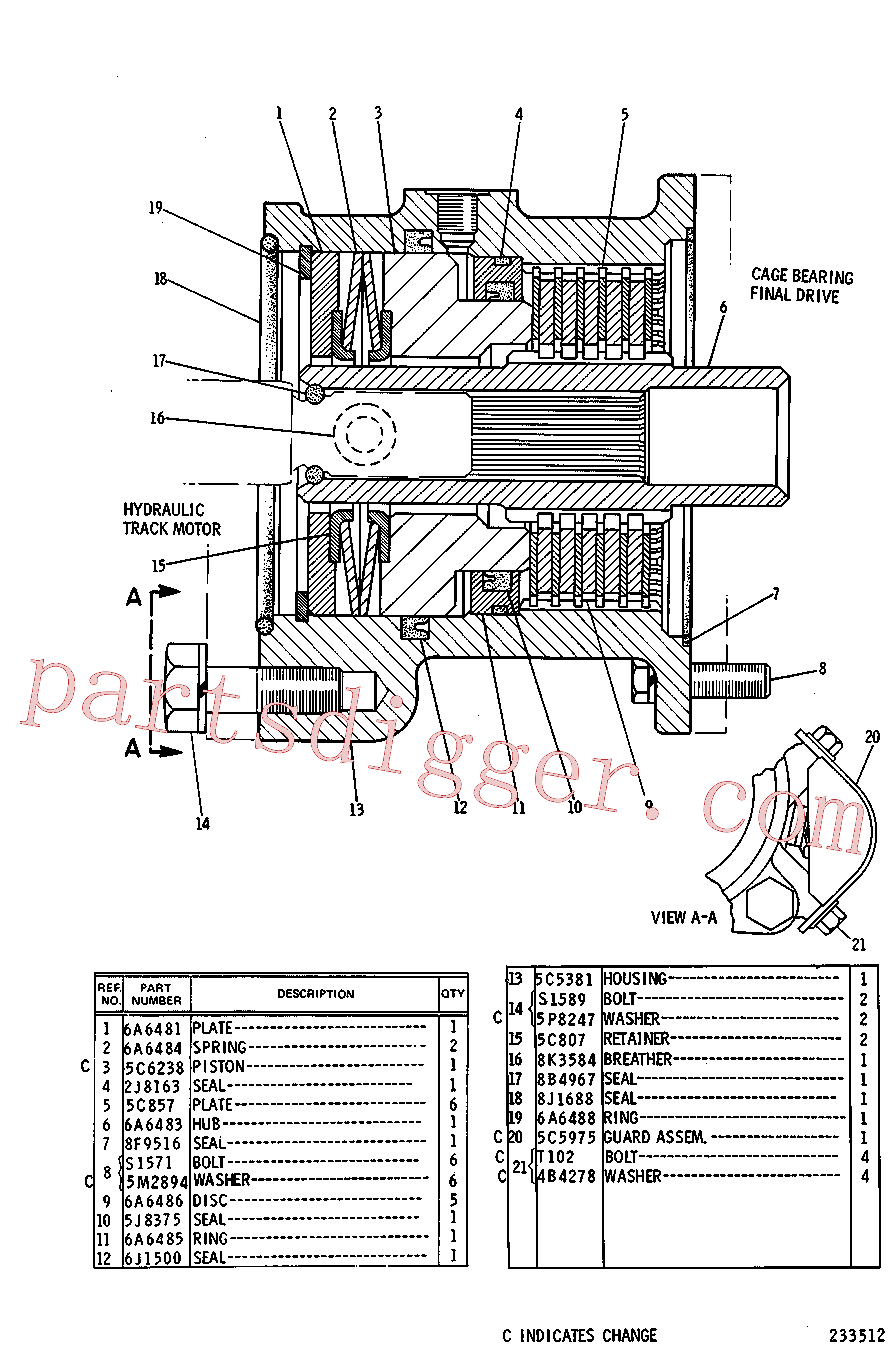 CAT 8F-9516 for 215D Excavator(EXC) power train 5C-5384 Assembly