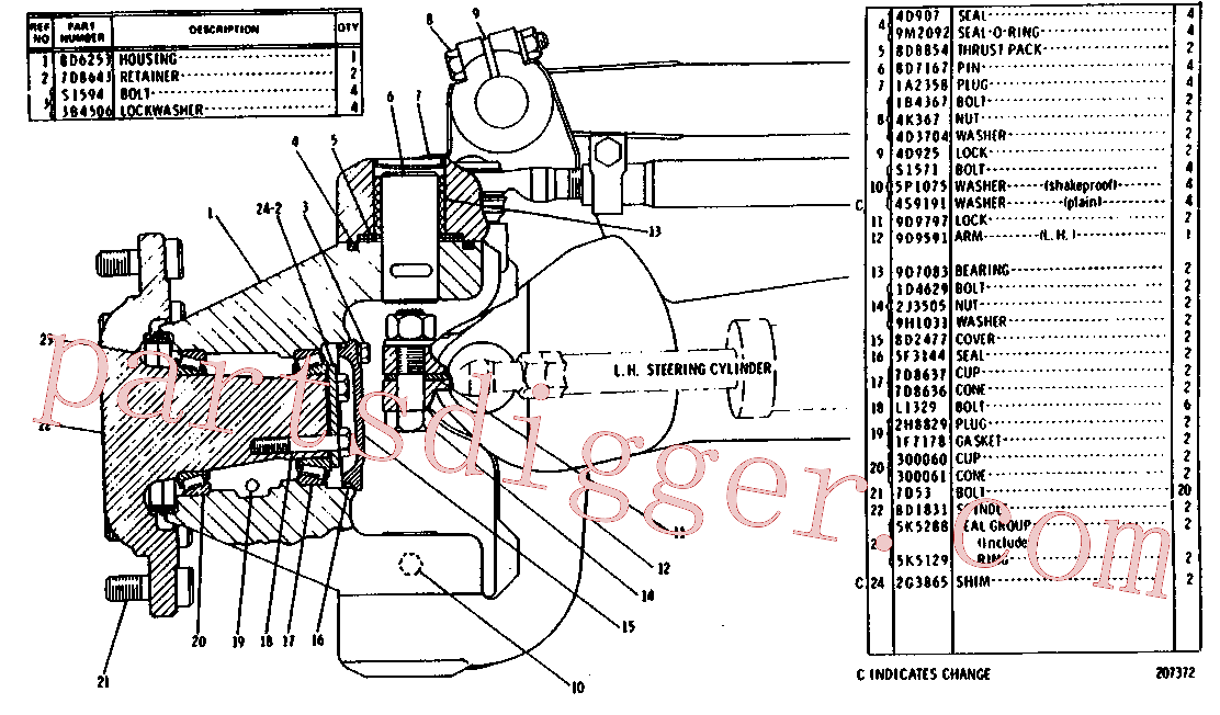 CAT 030-0060 for IT62H Integrated Toolcarrier(IT) chassis 8D-2980 Assembly
