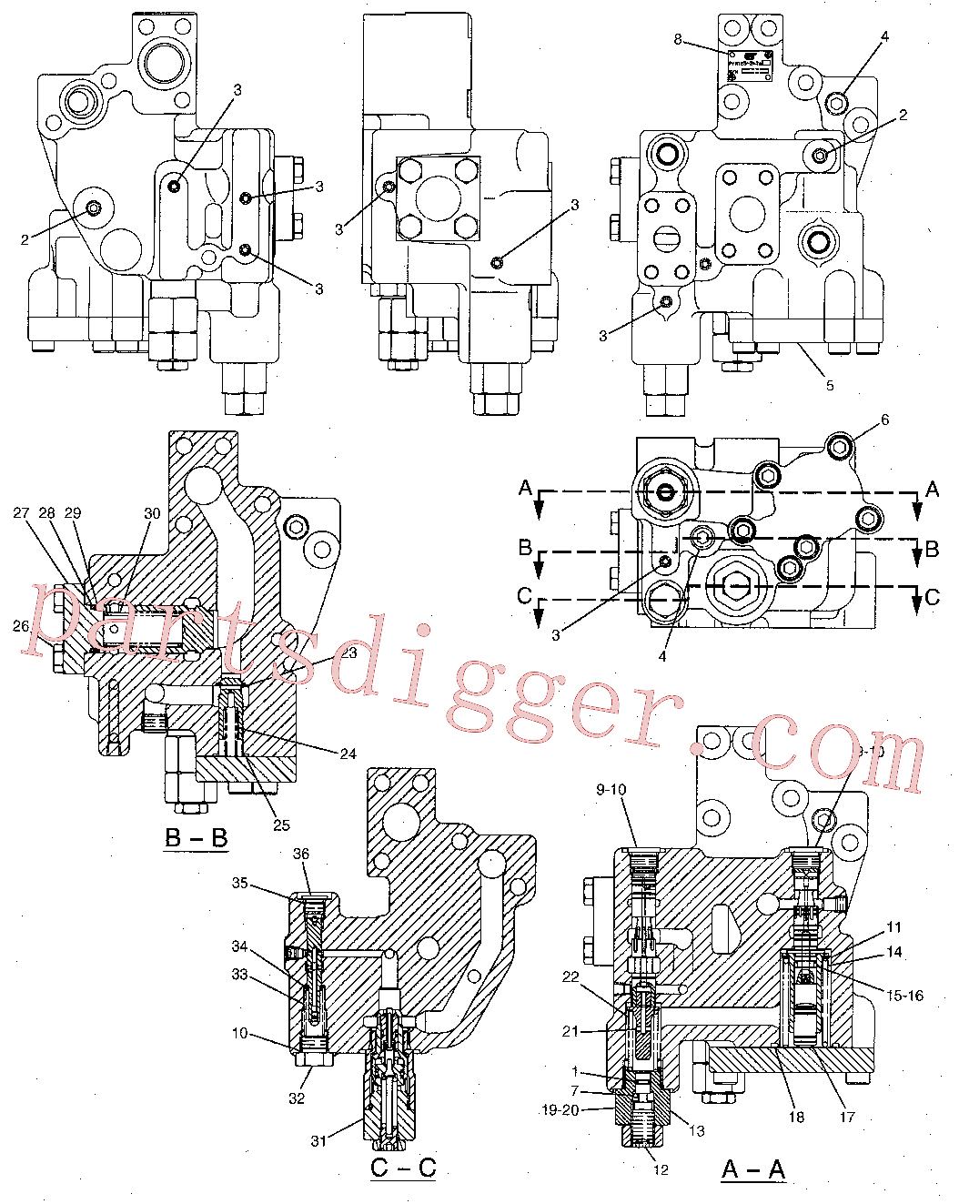 CAT 087-5166 for 330-A  L Excavator(EXC) hydraulic system 171-3266 Assembly