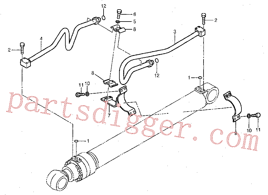 CAT 204-8358 for 336D LN Excavator(EXC) hydraulic system 192-6908 Assembly