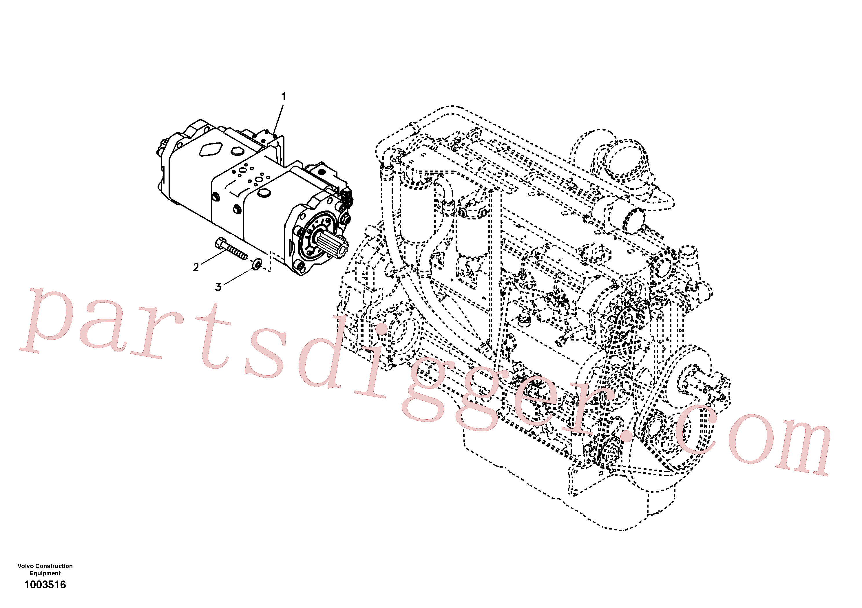 SA7220-00601 for Volvo Pump installation(1003516 assembly)