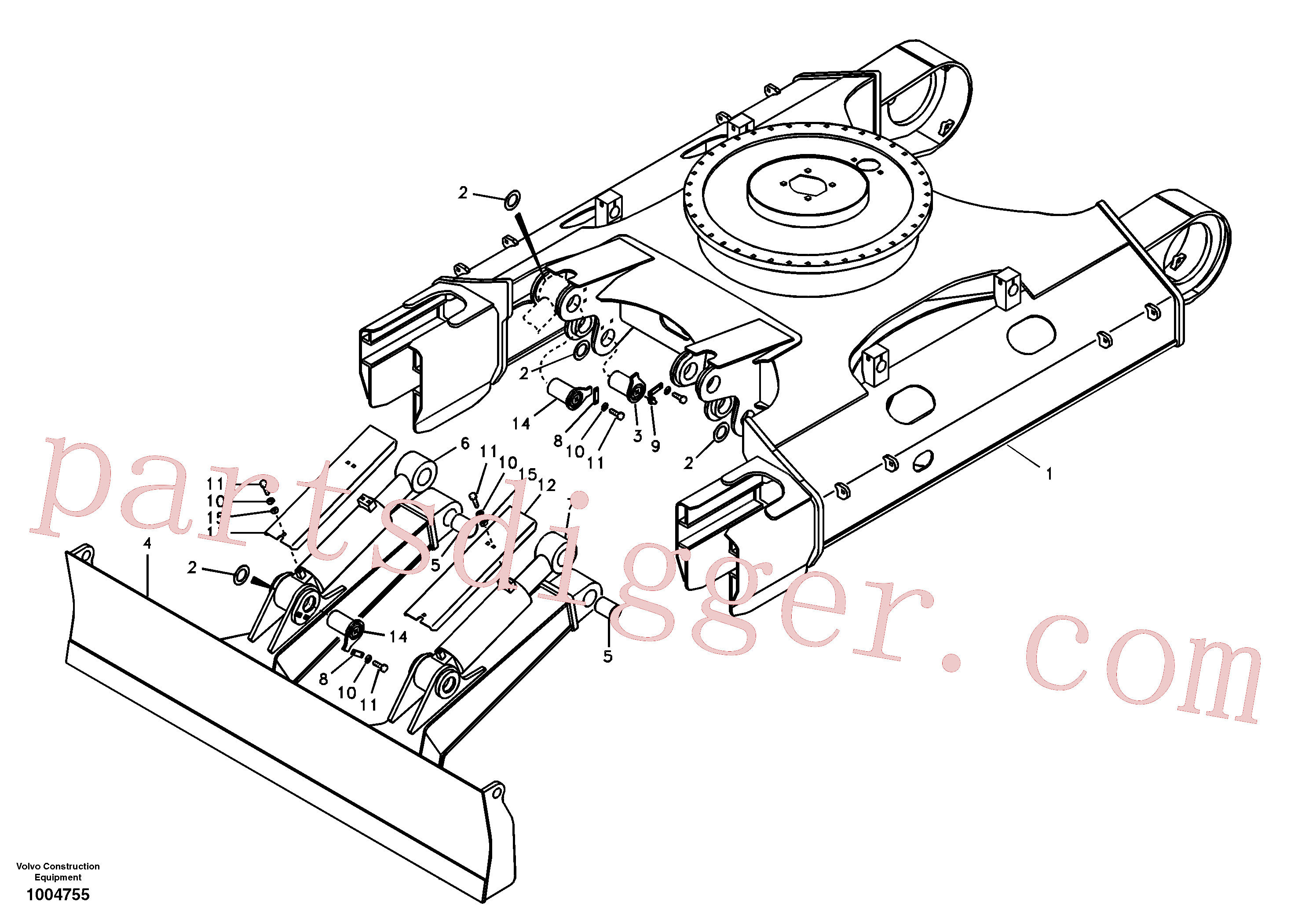 VOE14514388 for Volvo Undercarriage frame(1004755 assembly)