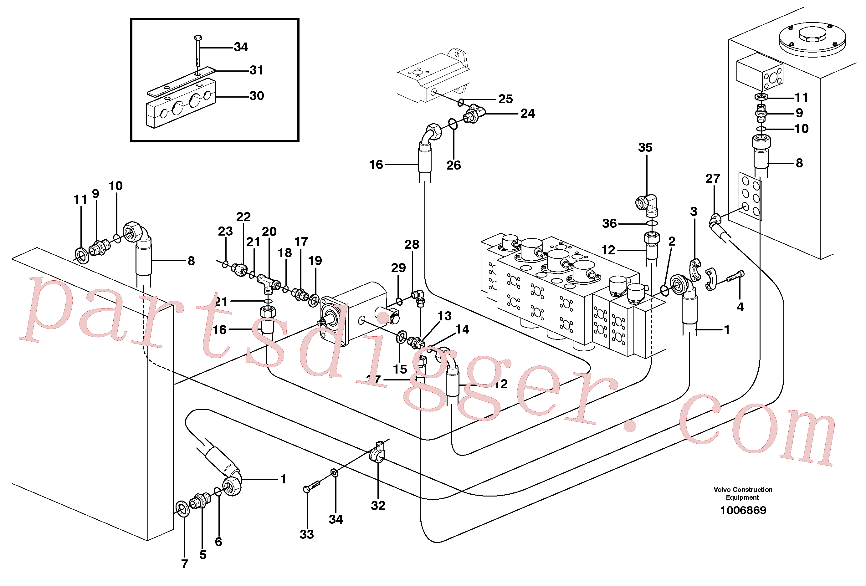 ZM7096545 for Volvo Hydraulic system, oil cooler(1006869 assembly)