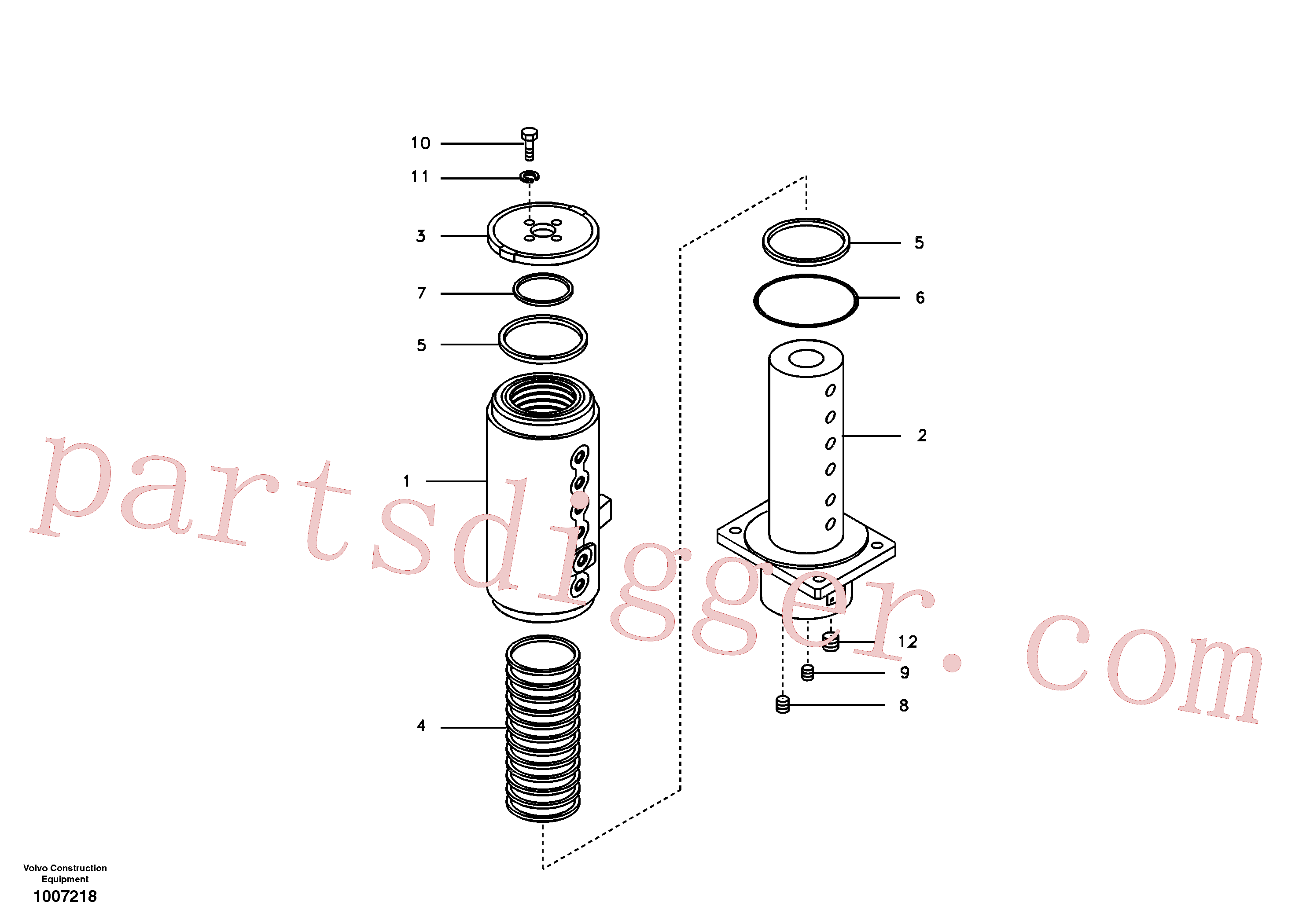 SA9511-12125 for Volvo Turning joint(1007218 assembly)