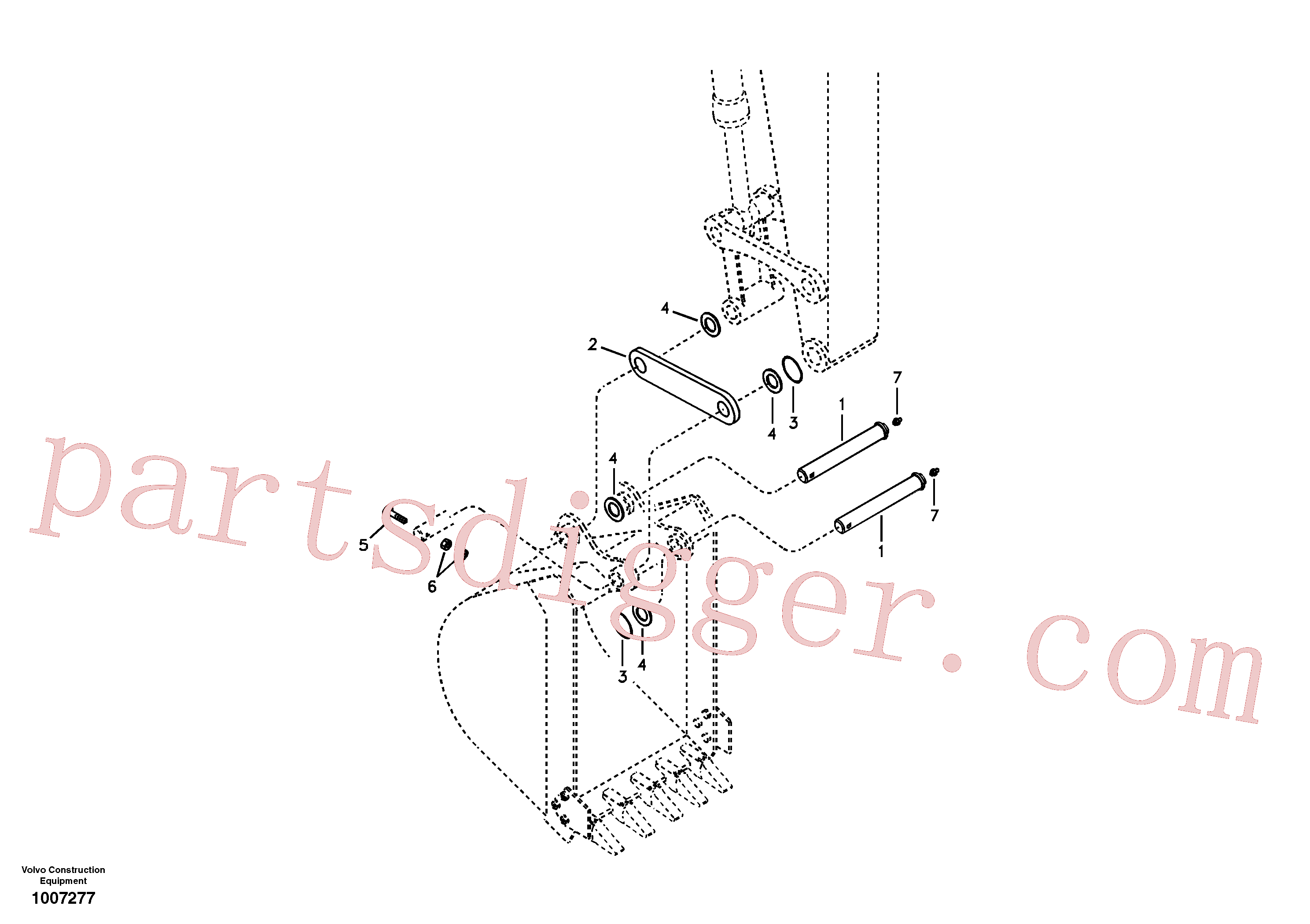 SA9481-10003 for Volvo Linkage for no bucket(1007277 assembly)