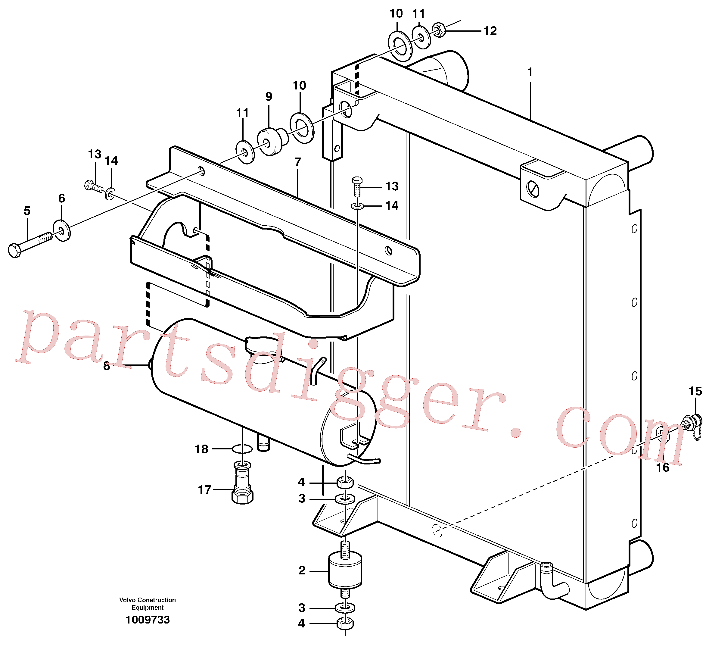 ZM4384256 for Volvo Radiator with fitting parts(1009733 assembly)