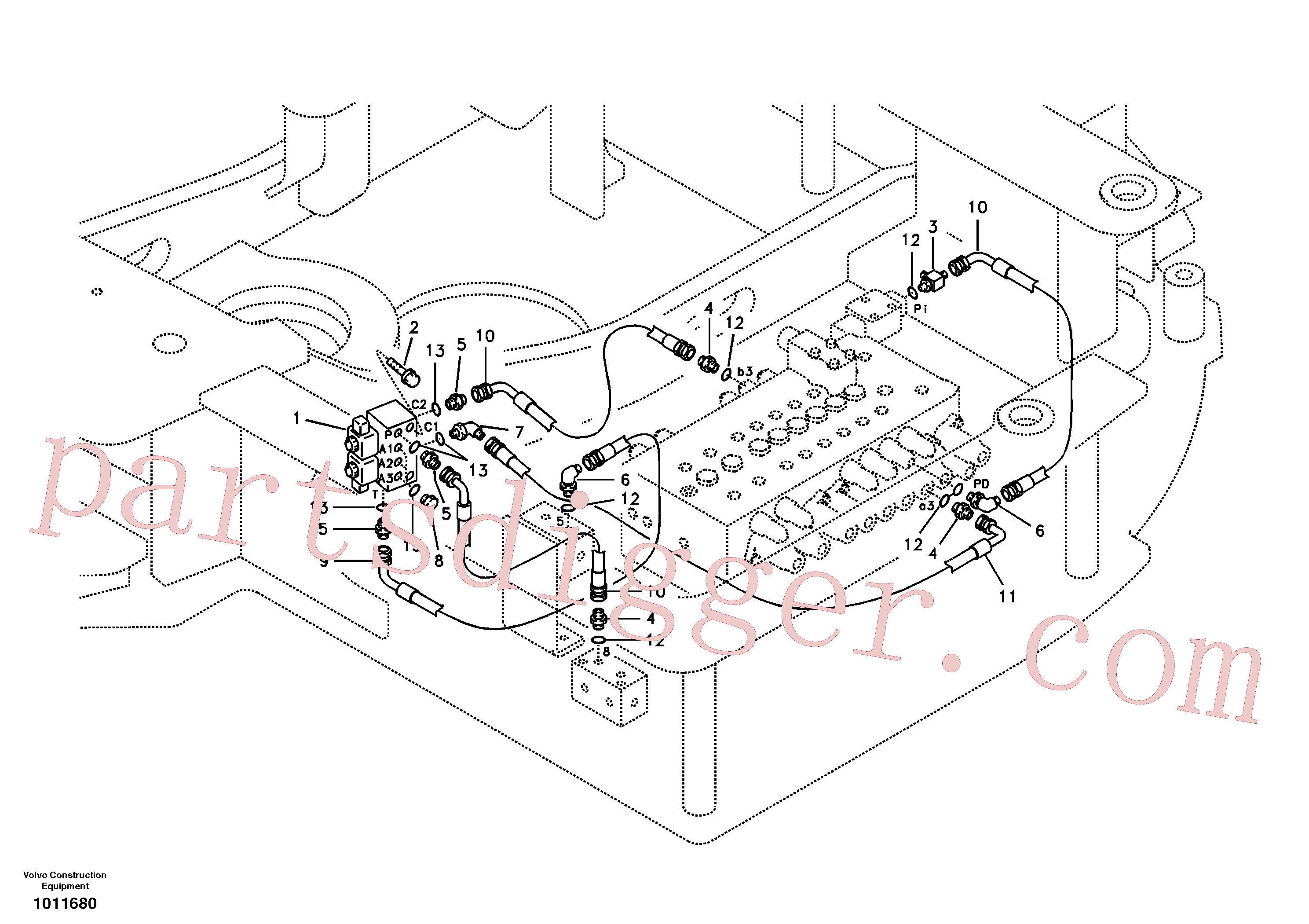 VOE14527754 for Volvo Servo system, hammer and shear(1011680 assembly)