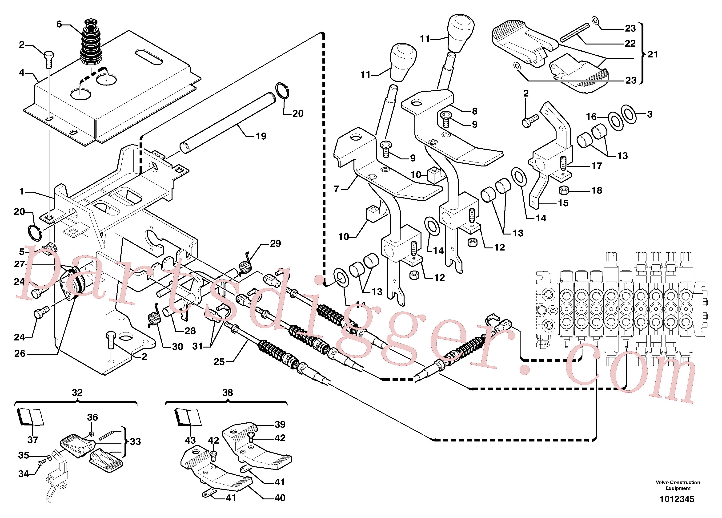 PJ4790012 for Volvo Control levers : steel pedal(1012345 assembly)