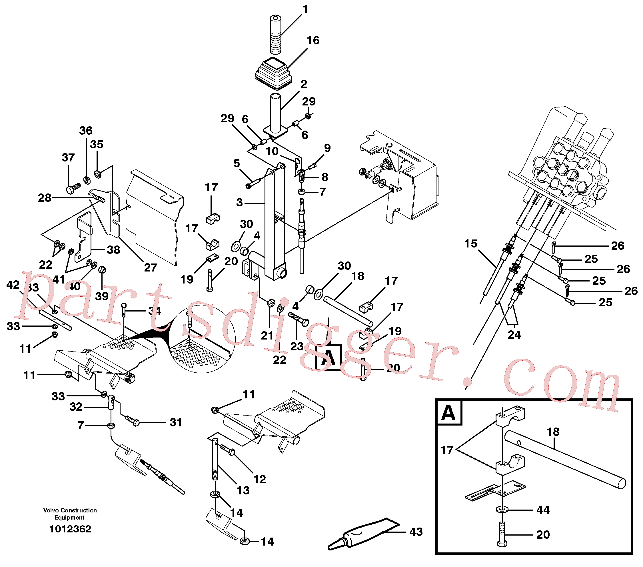 VOE11840922 for Volvo Optional hand controls(1012362 assembly)
