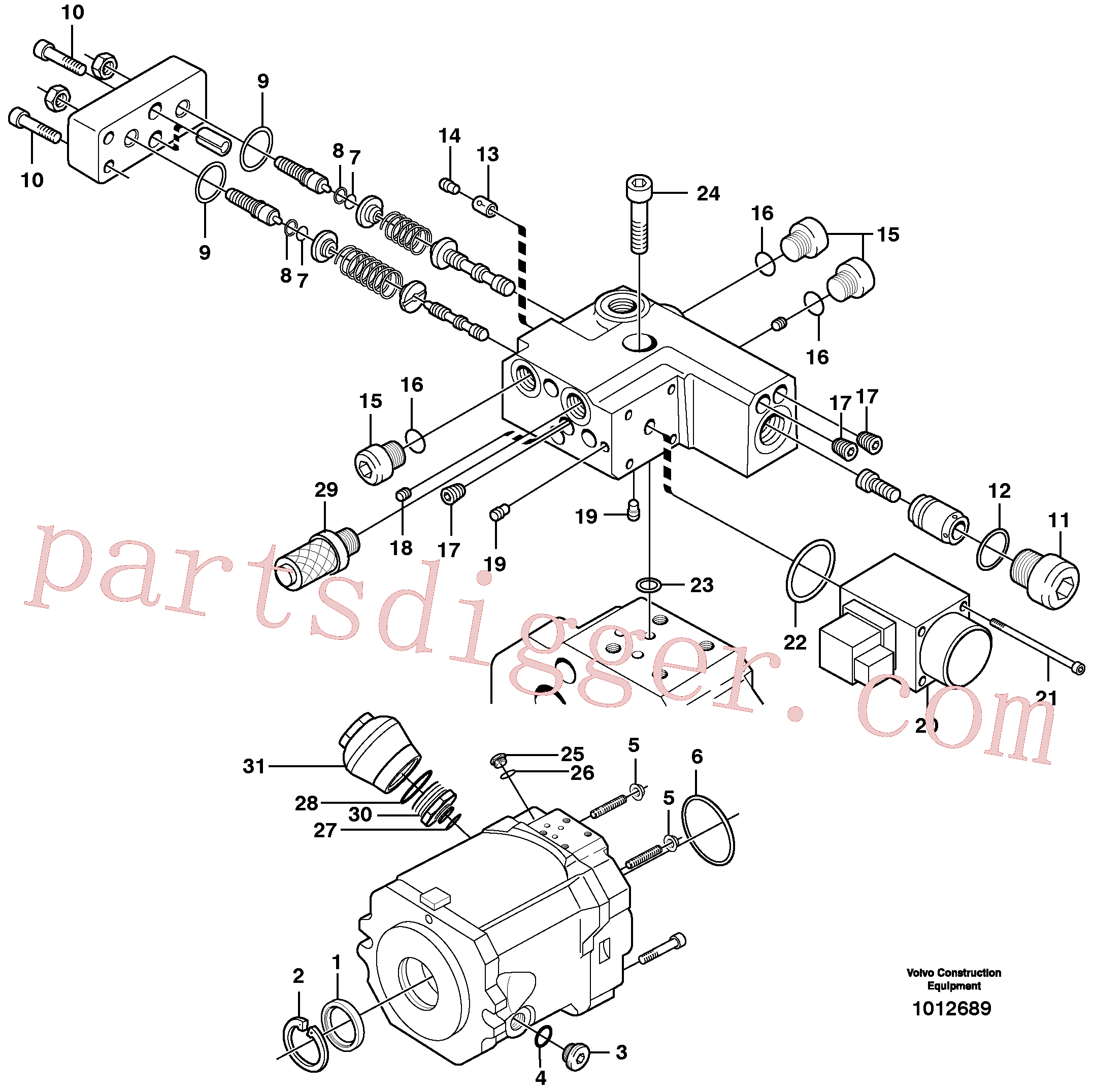 VOE11705614 for Volvo Hydraulic pump(1012689 assembly)