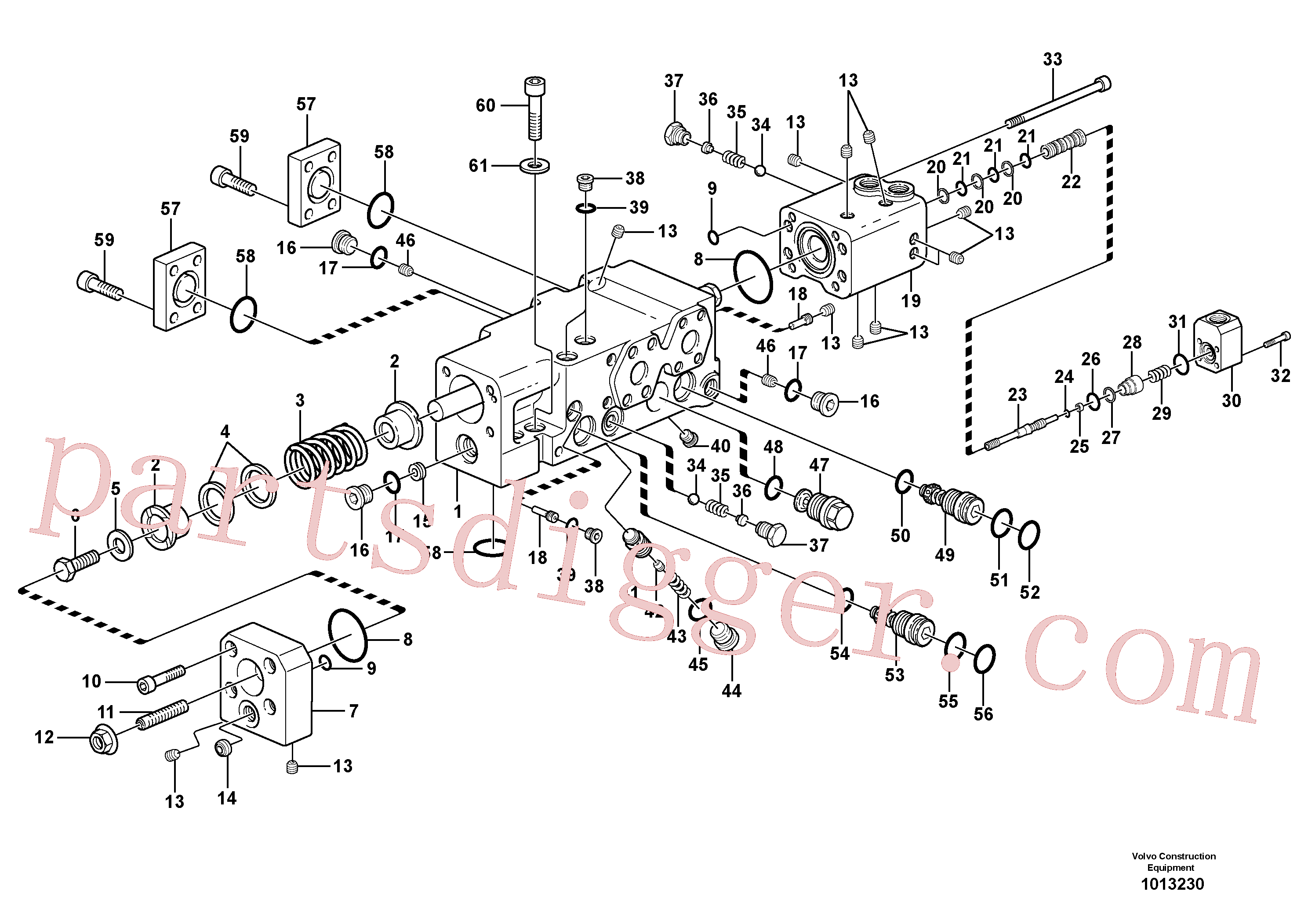 VOE11704830 for Volvo Control valve(1013230 assembly)