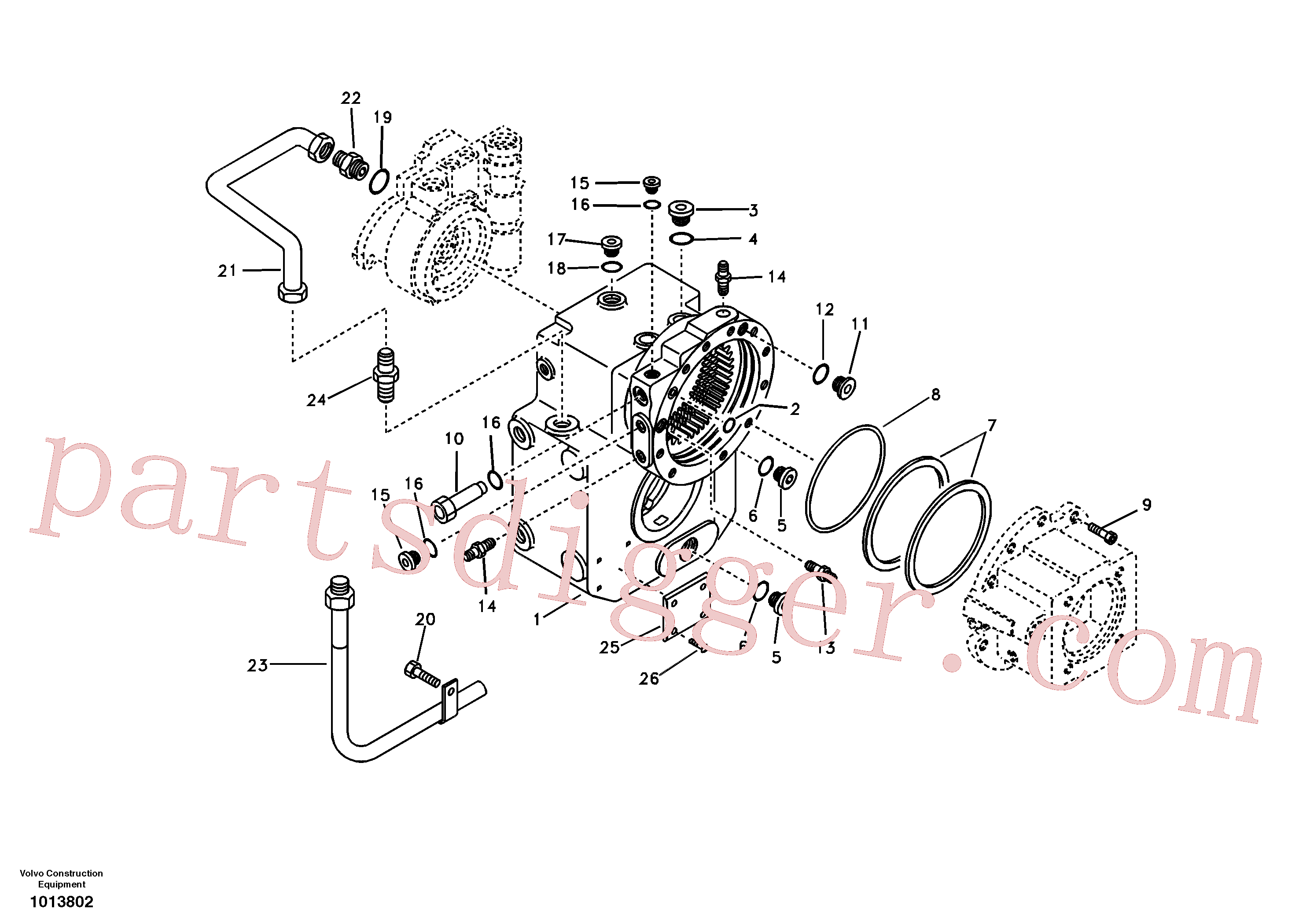 SA8220-01860 for Volvo Gear box housing with fitting parts(1013802 assembly)