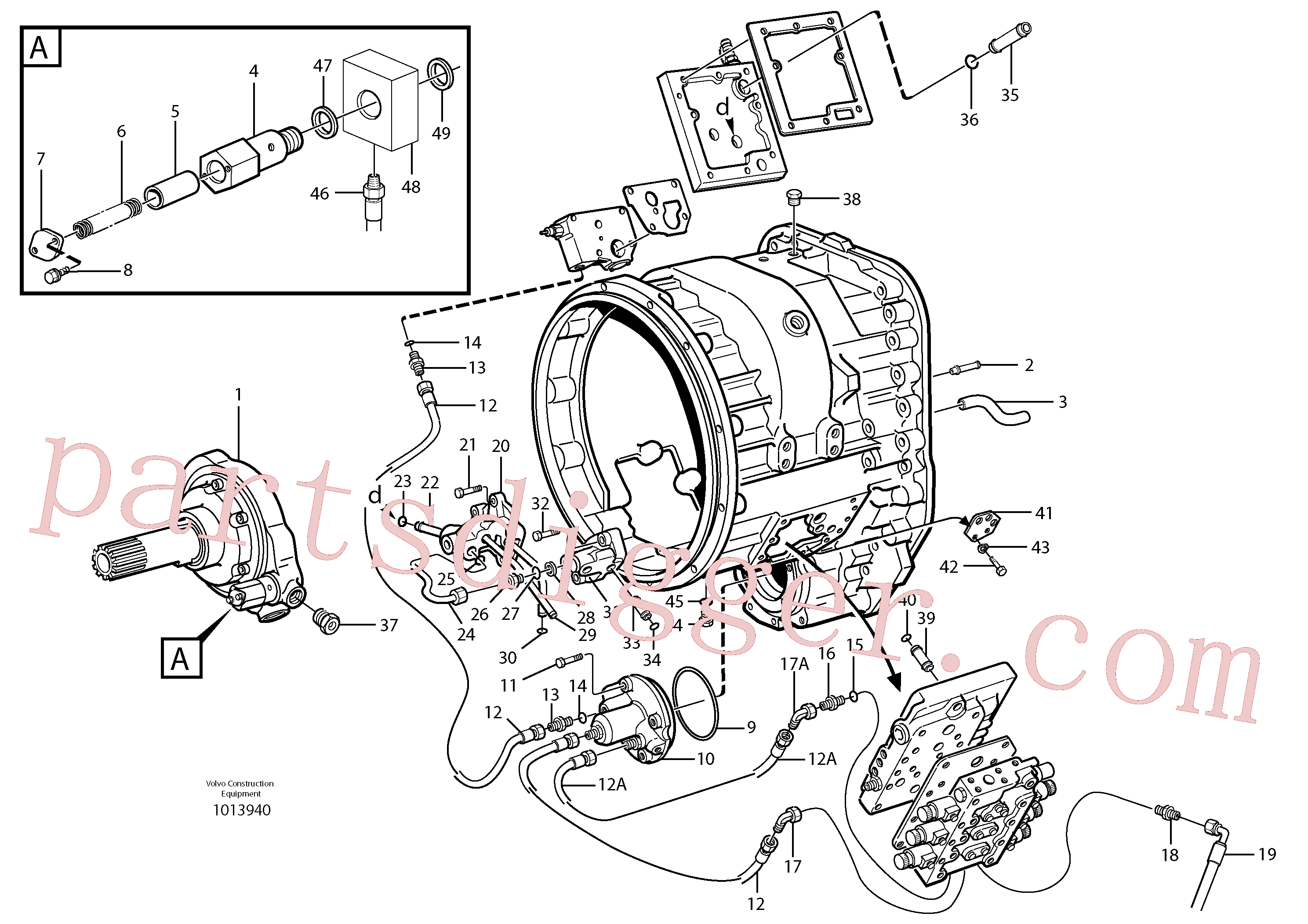 VOE925263 for Volvo Oil distributor and tube.(1013940 assembly)