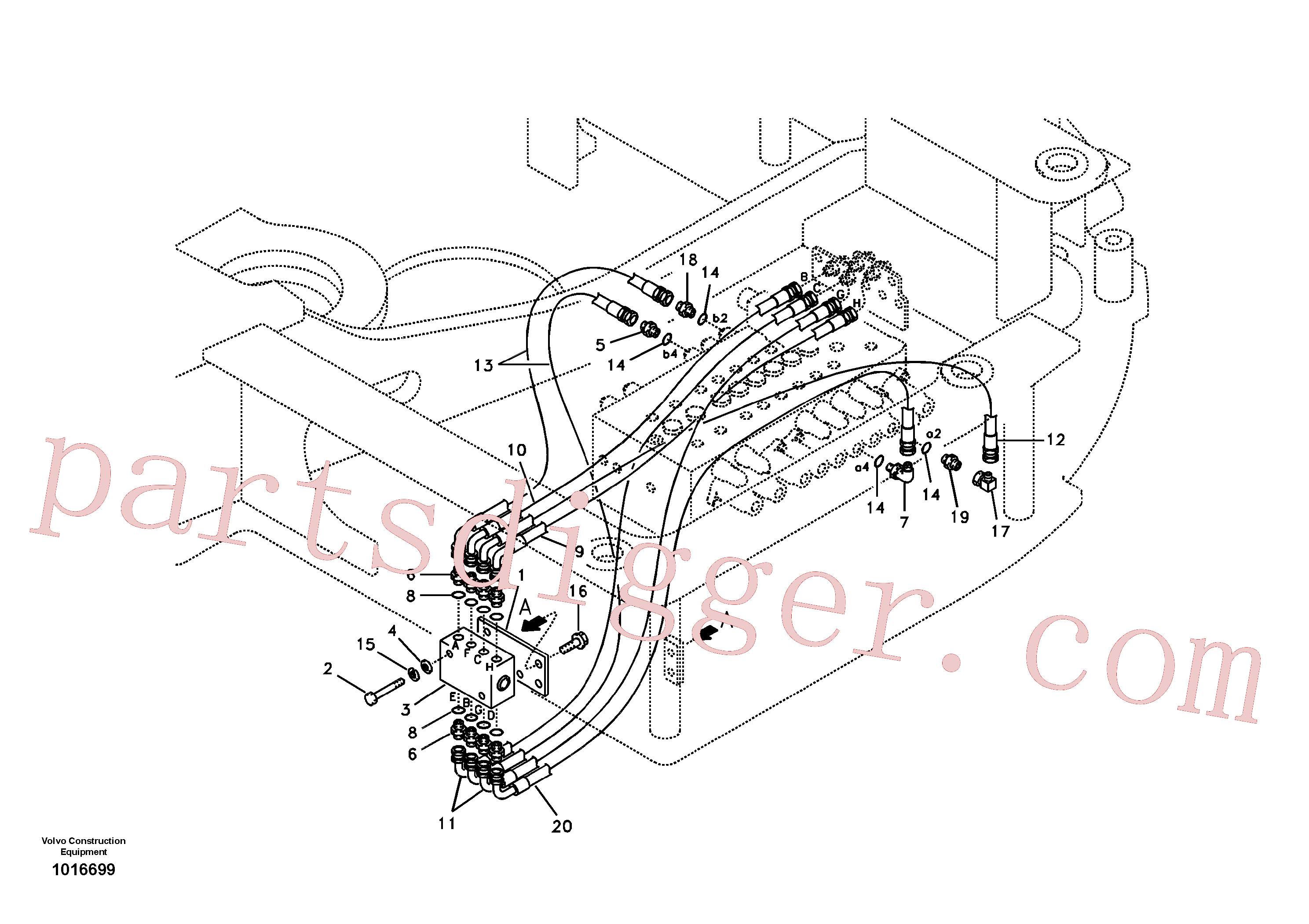 SA9453-02213 for Volvo Servo system, changing lever function(1016699 assembly)