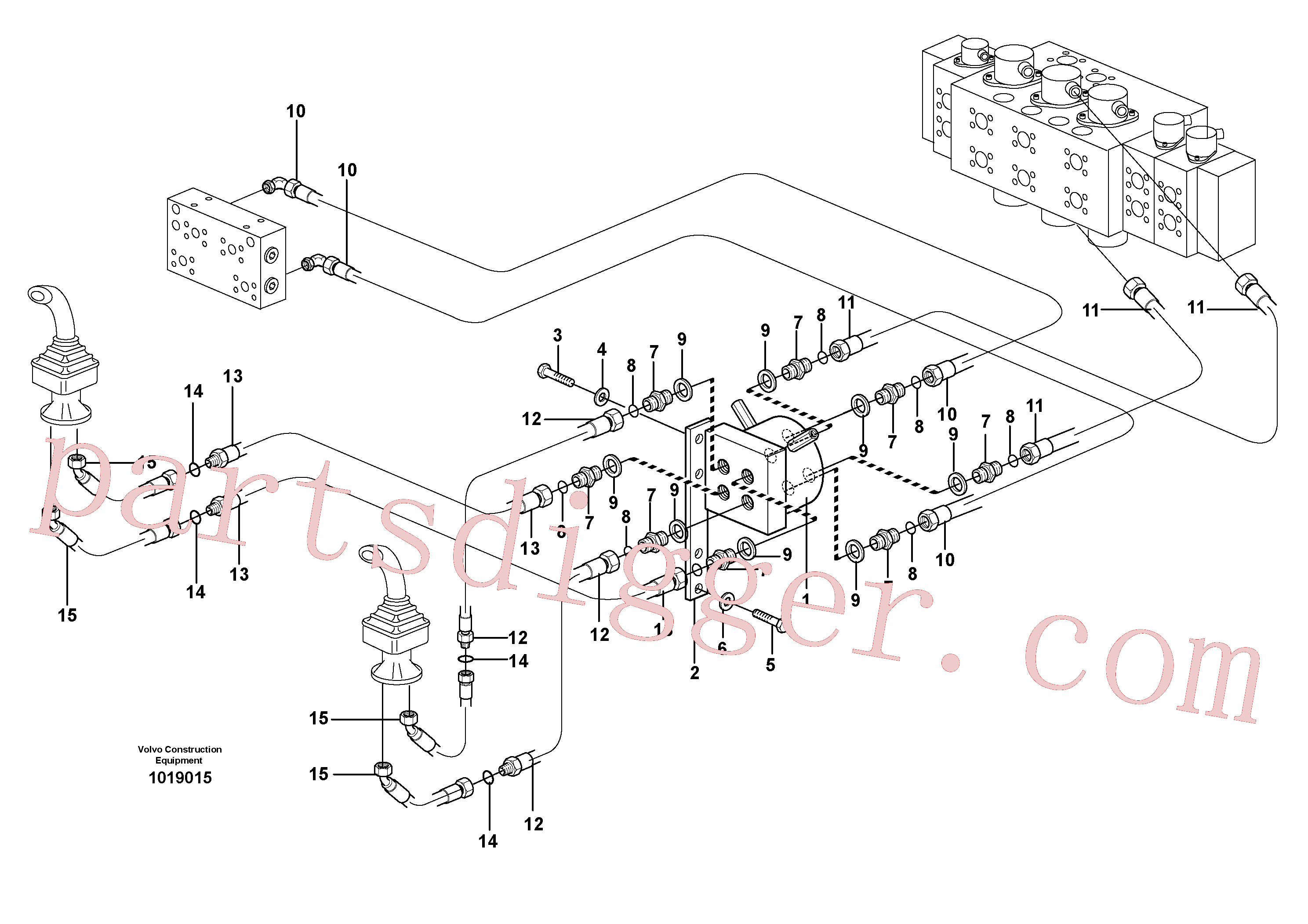 VOE14529538 for Volvo Servo hydraulics, only USA(1019015 assembly)