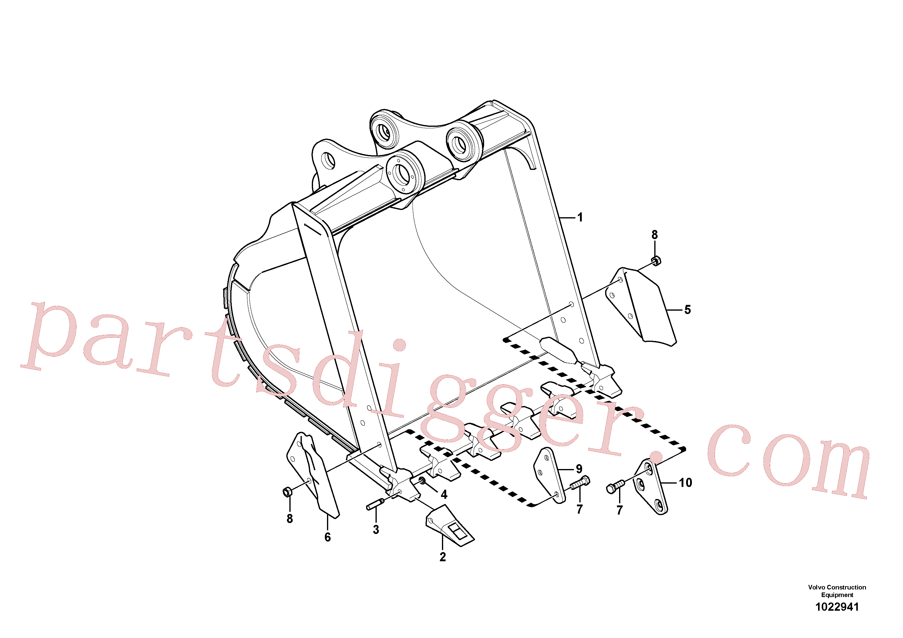 VOE14540726 for Volvo Bucket(1022941 assembly)