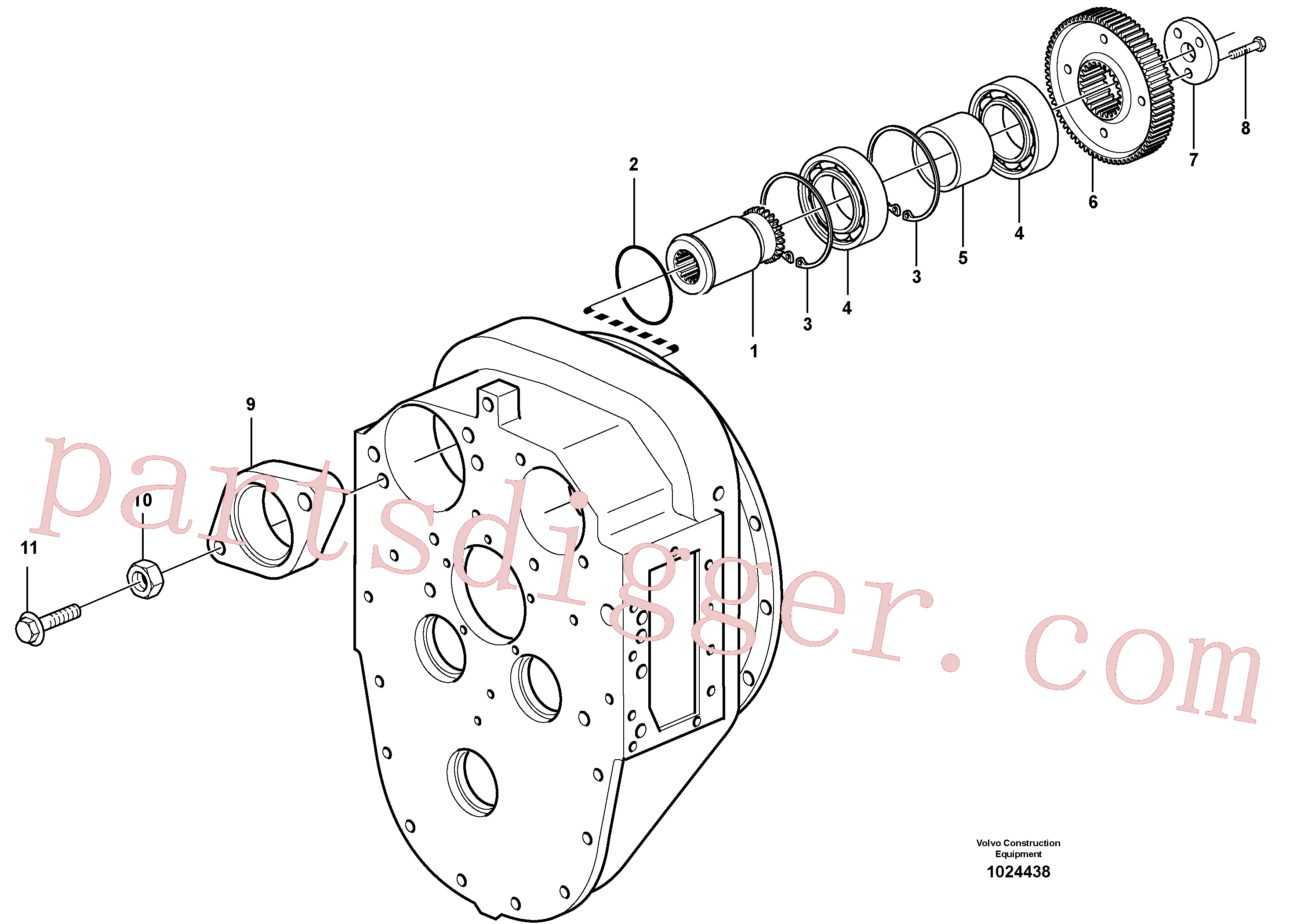 VOE11144861 for Volvo Pump drive(1024438 assembly)