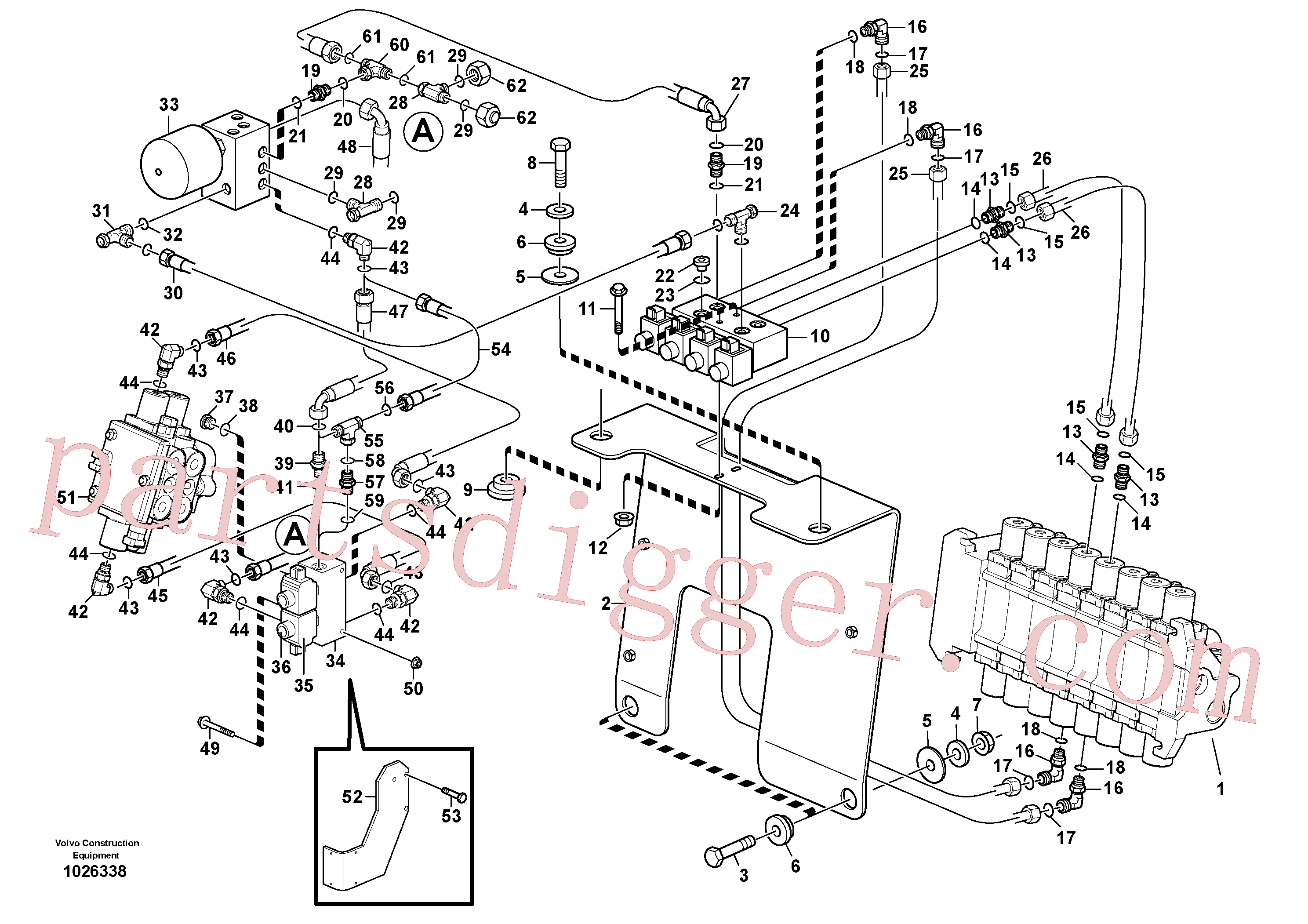 VOE14527754 for Volvo Hydraulic system pilot excavator controls(1026338 assembly)