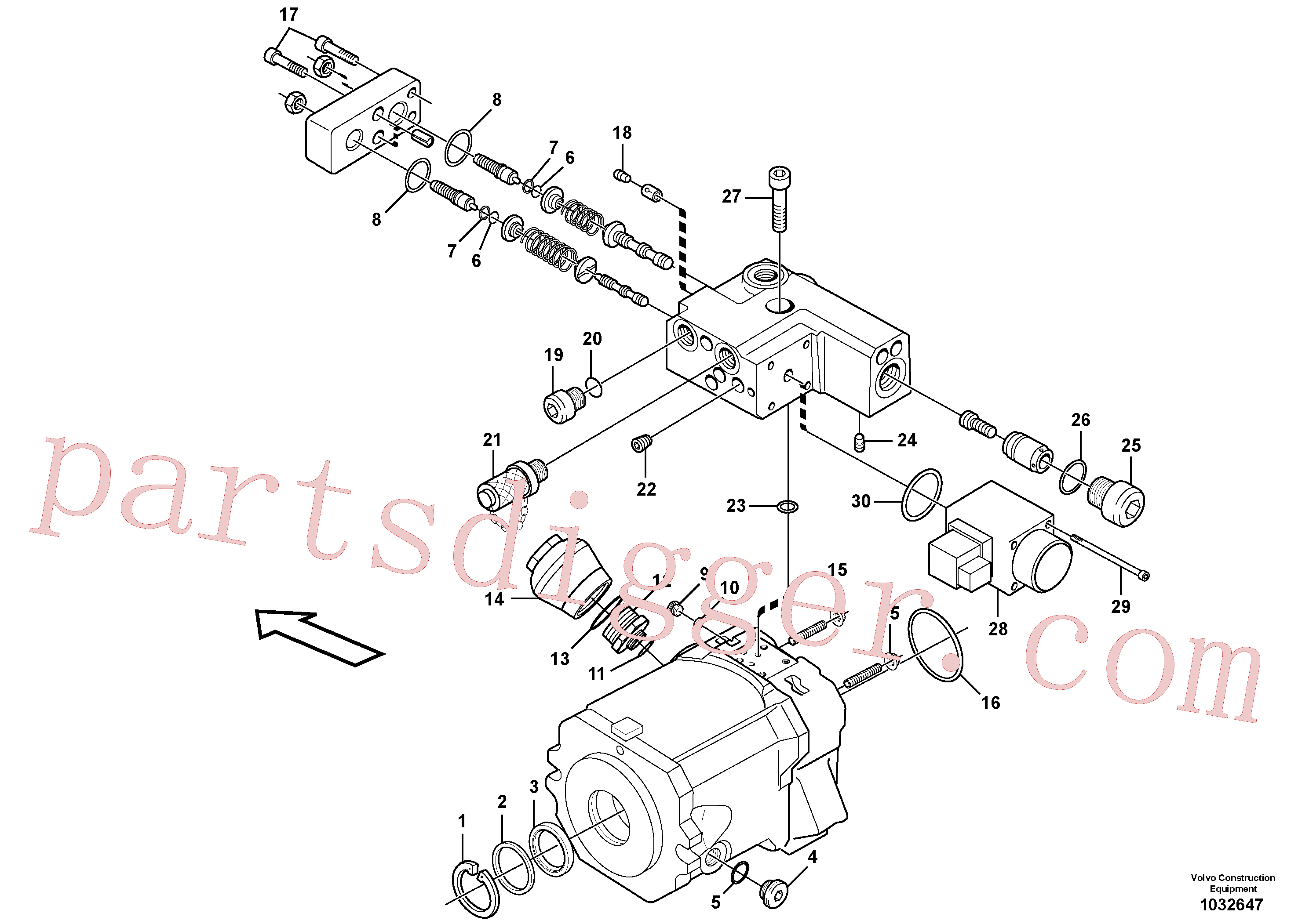 VOE11705614 for Volvo Pump(1032647 assembly)