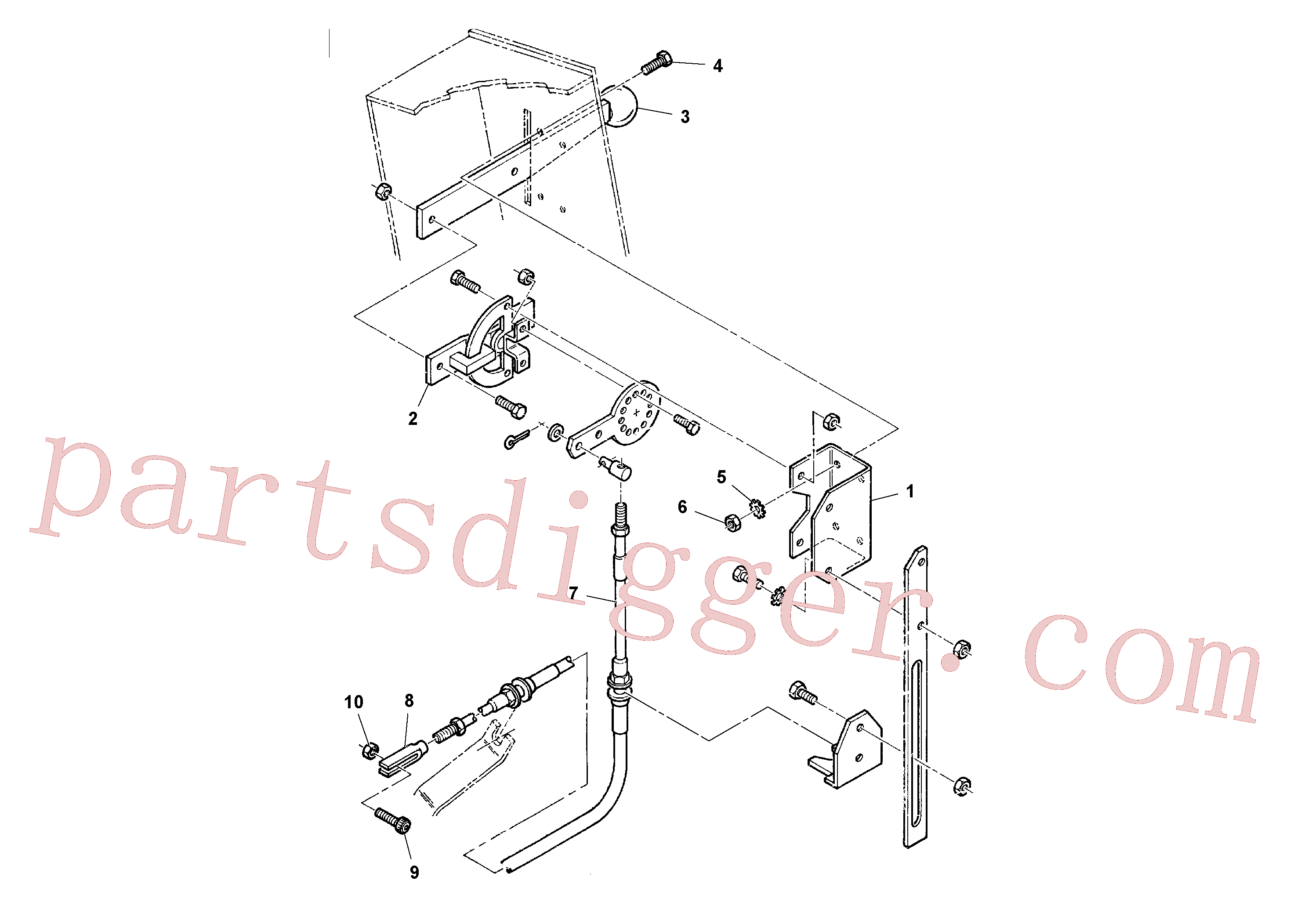 RM95860052 for Volvo Throttle Cable Installation(1036688 assembly)
