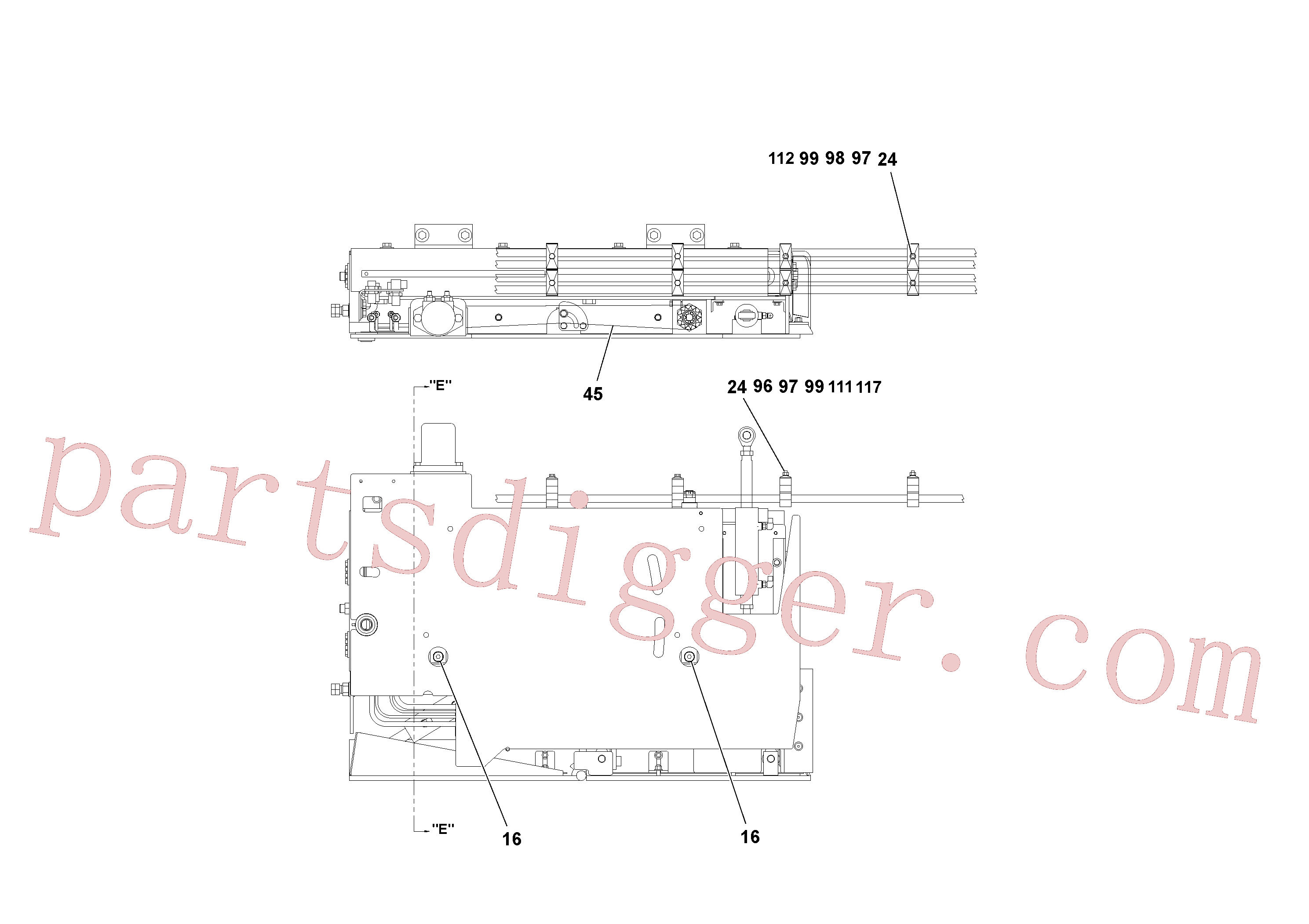 RM20188587 for Volvo 4' Extension Assembly(1036868 assembly)