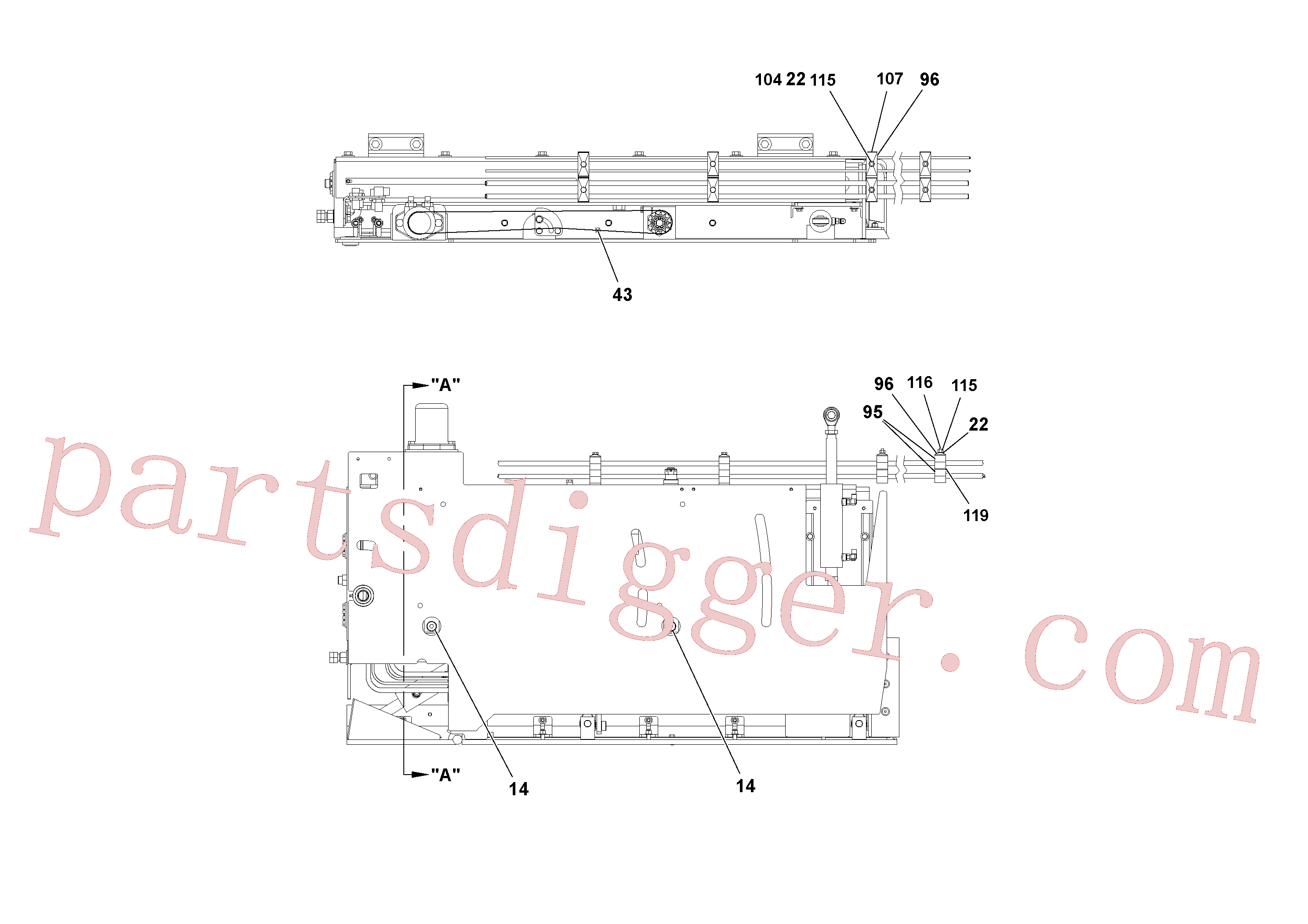 RM20324802 for Volvo 5' Extension Assembly(1036885 assembly)