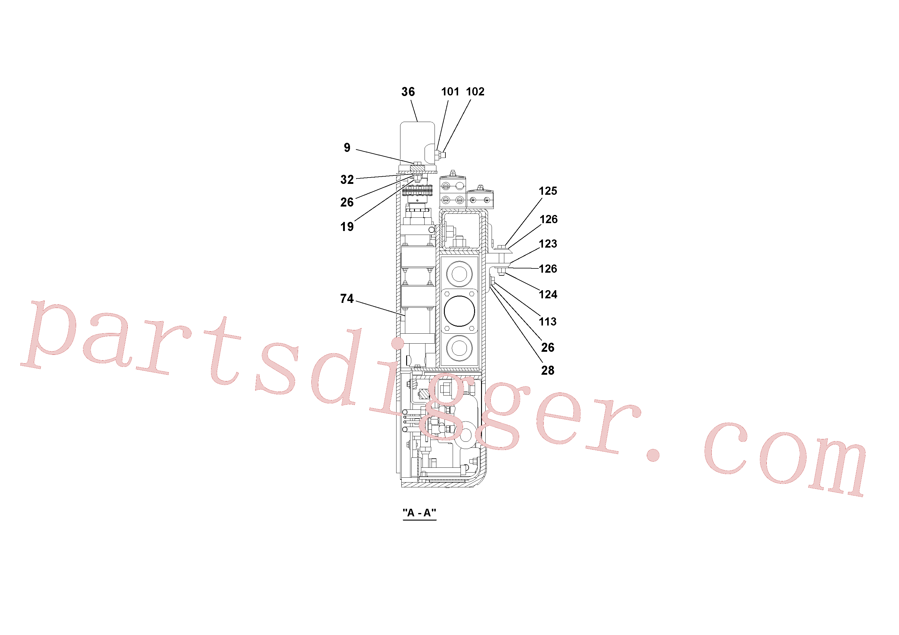 RM20324802 for Volvo 5' Extension Assembly(1036956 assembly)