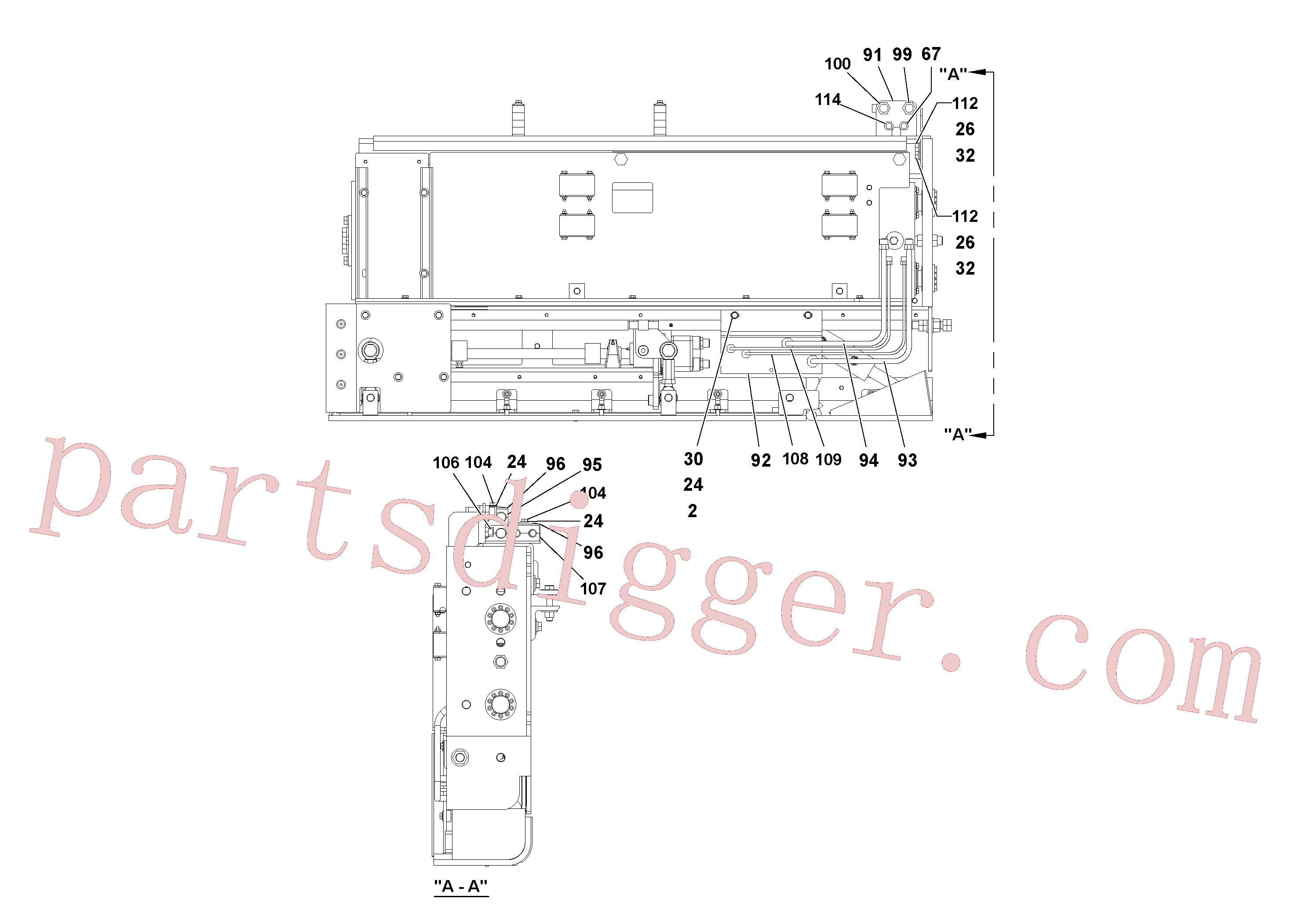 RM20324802 for Volvo 5' Extension Assembly(1036974 assembly)