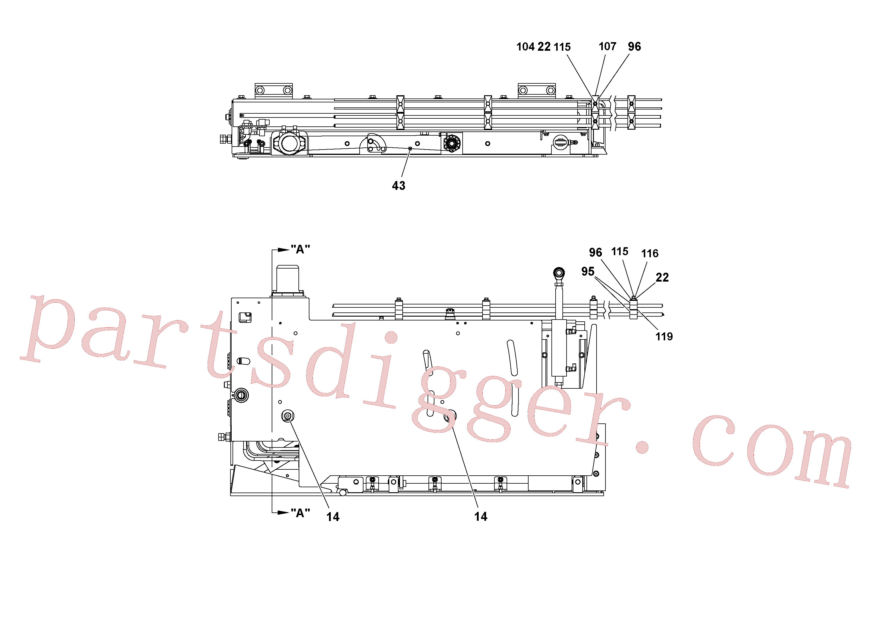 RM20188587 for Volvo 5' Extension Assembly(1036983 assembly)