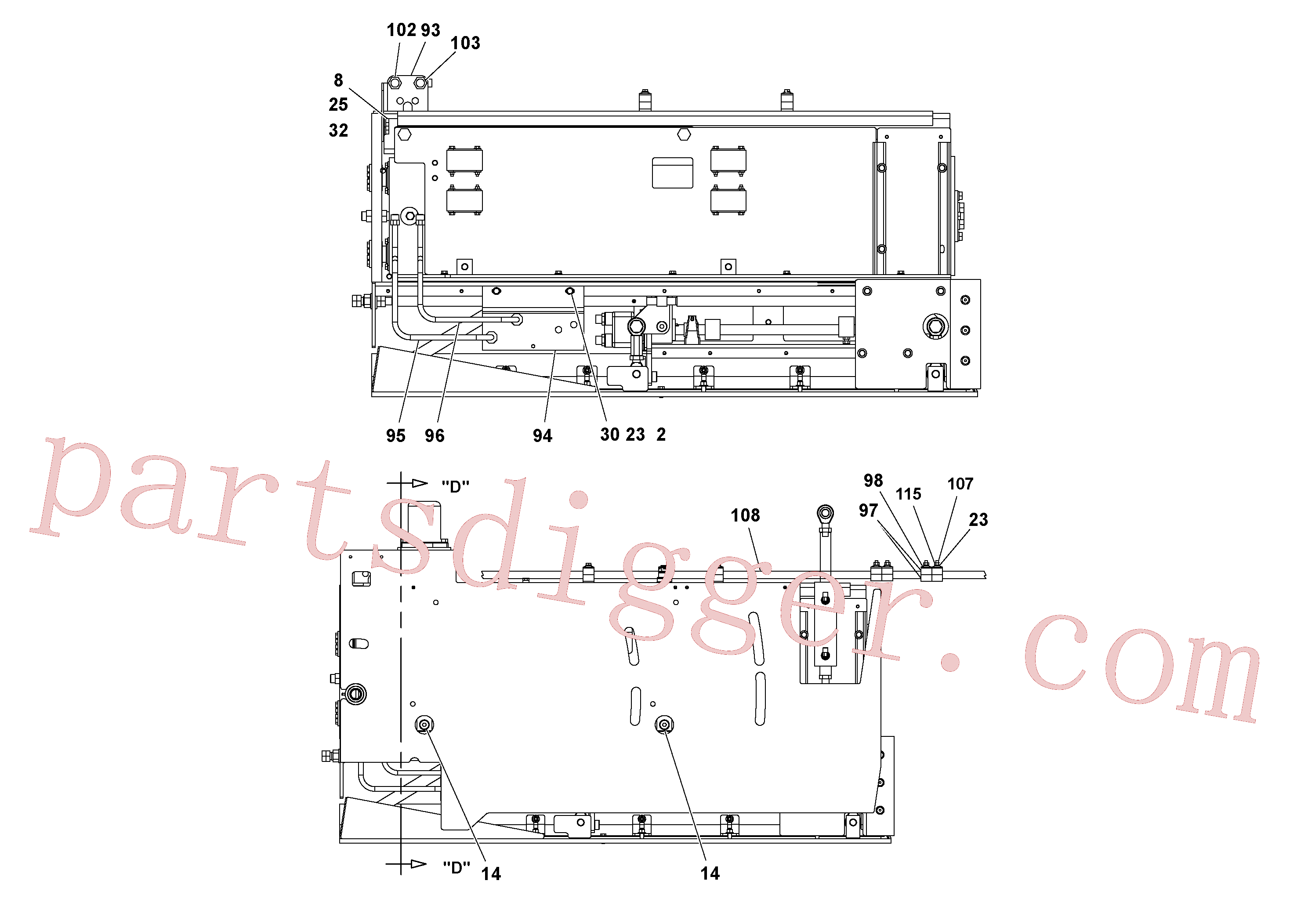 RM20188587 for Volvo 5' Extension Assembly(1037013 assembly)
