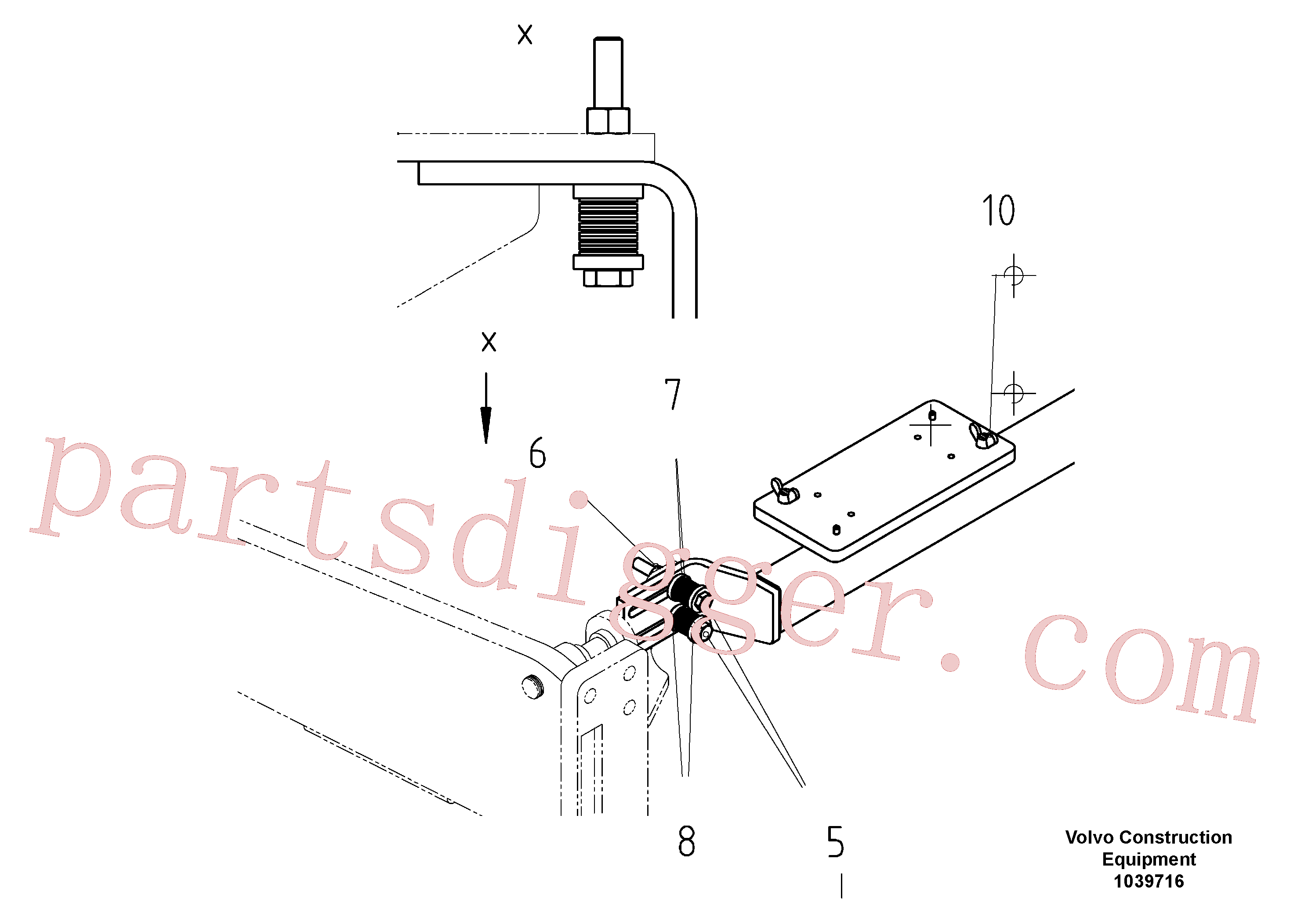 RM96745393 for Volvo Support For Slope Control(1039716 assembly)
