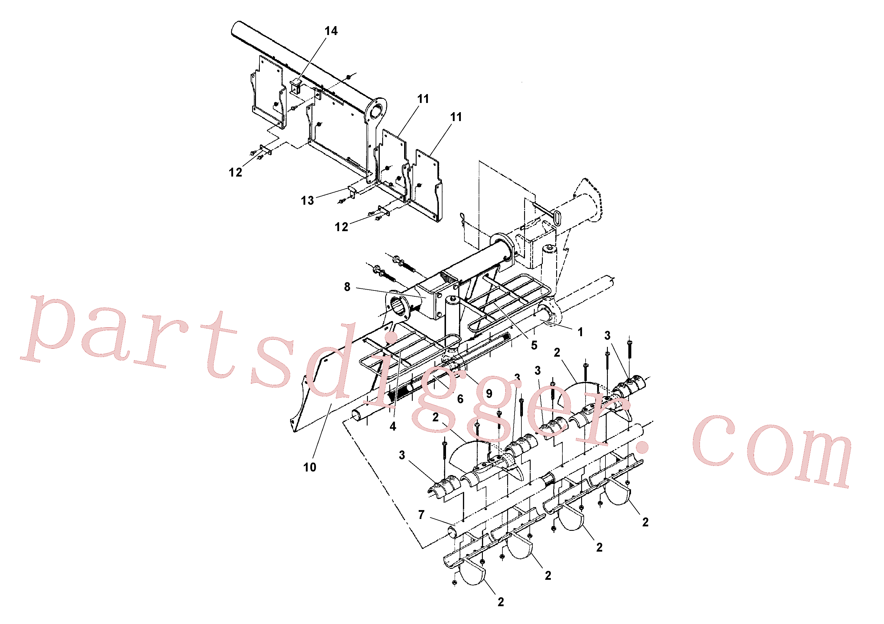 RM20241741 for Volvo Auger and Tunnel / Guard Arrangement(1041142 assembly)